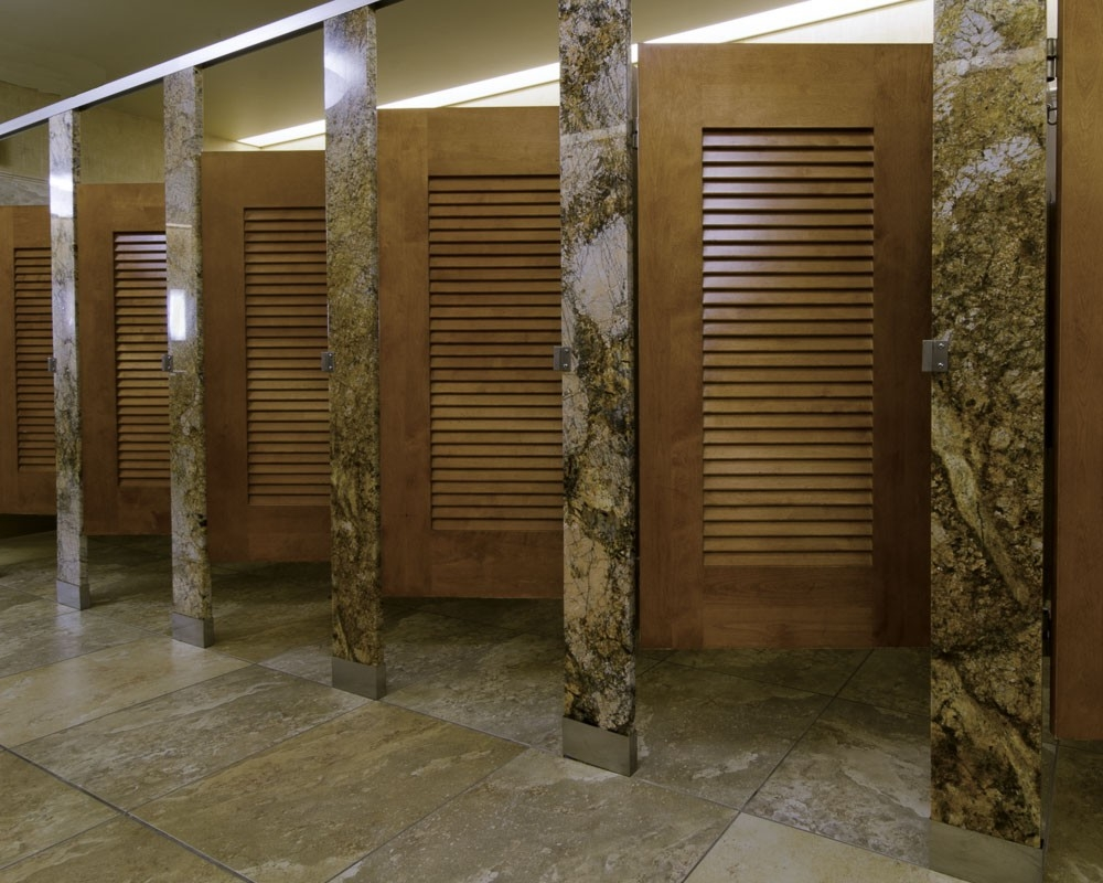 Louvered Bathroom Stall Doors