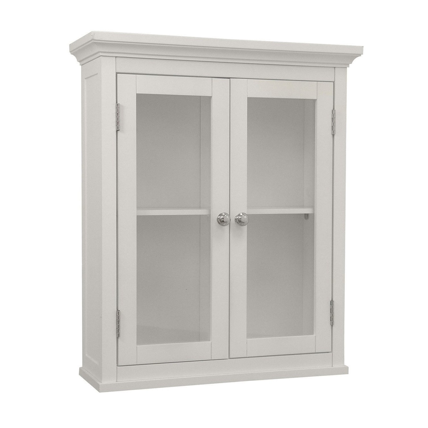 Louvered Door Bathroom Wall Cabinet