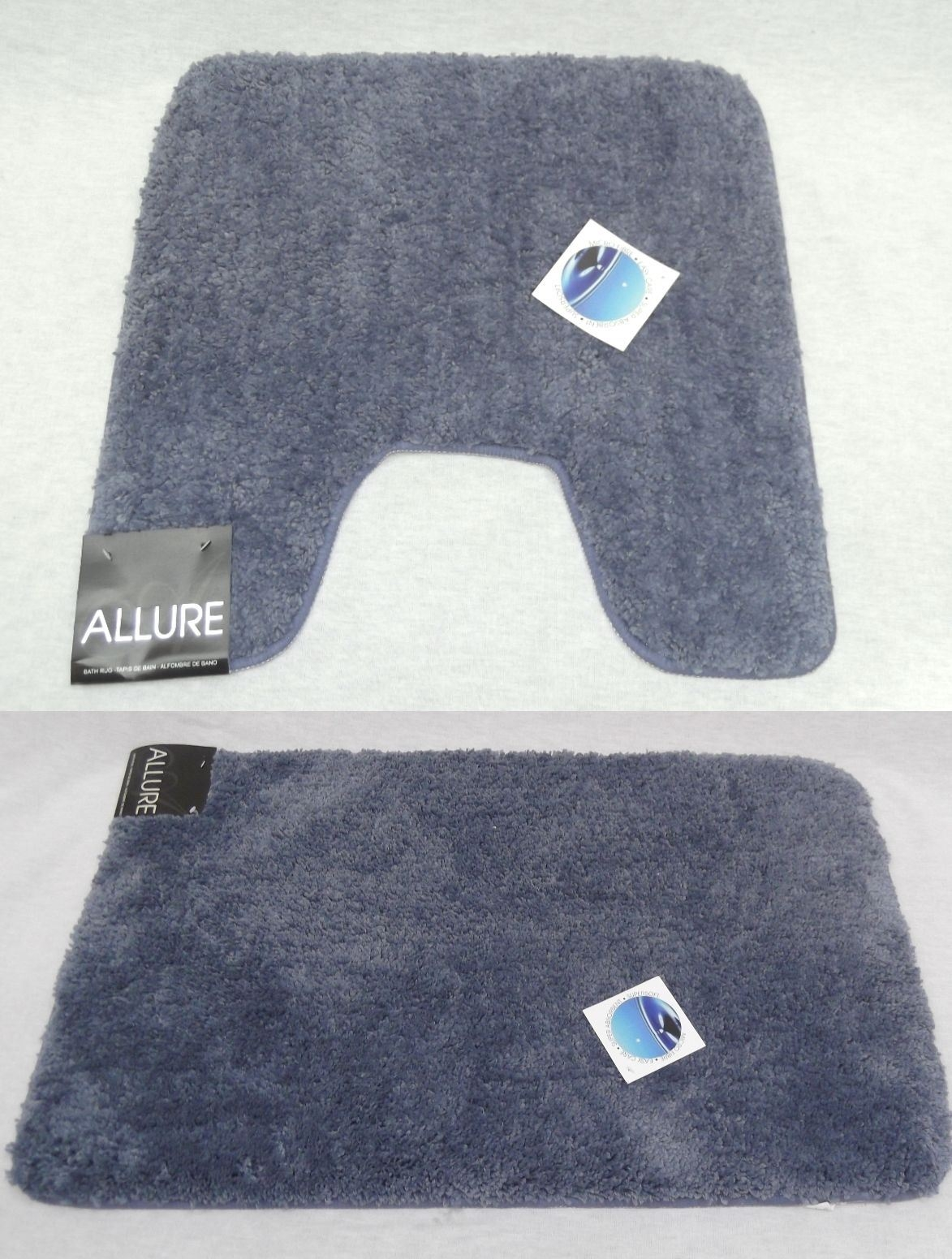 Navy Bath Mats With Rubber Backing