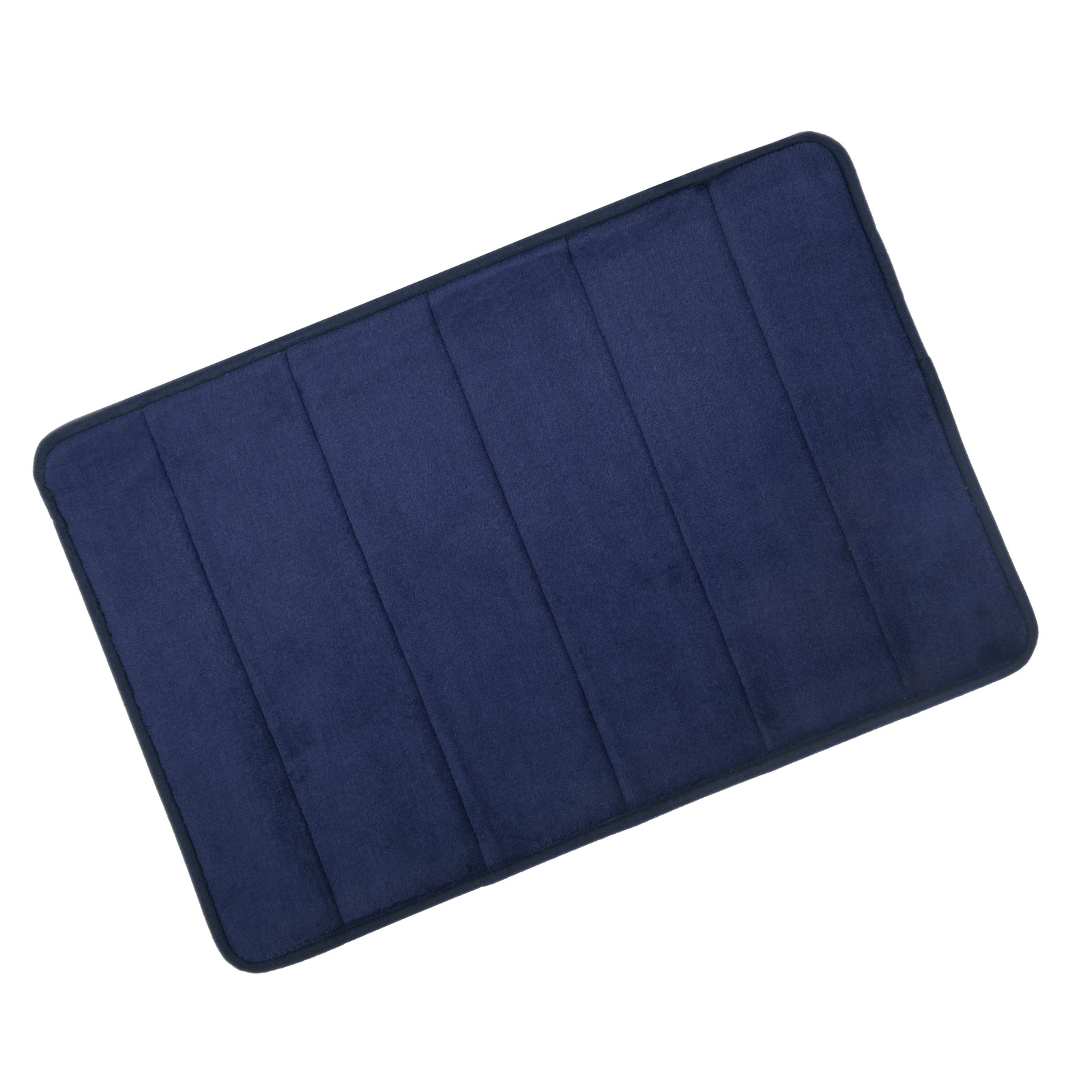 Navy Blue Memory Foam Bath Mat