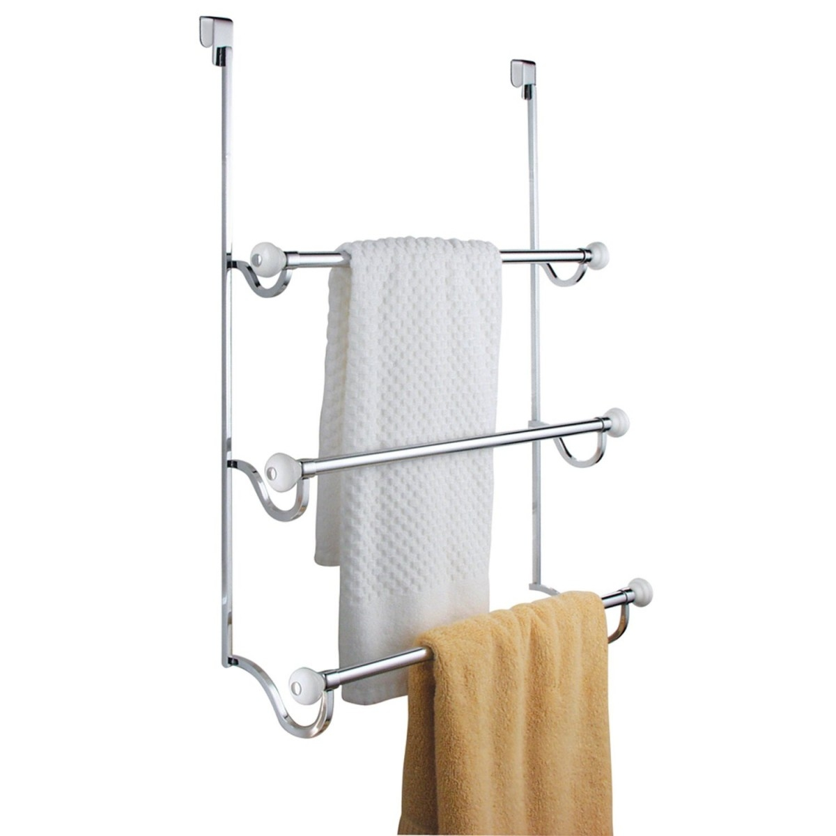 Over The Shower Door Towel Rack Chrome