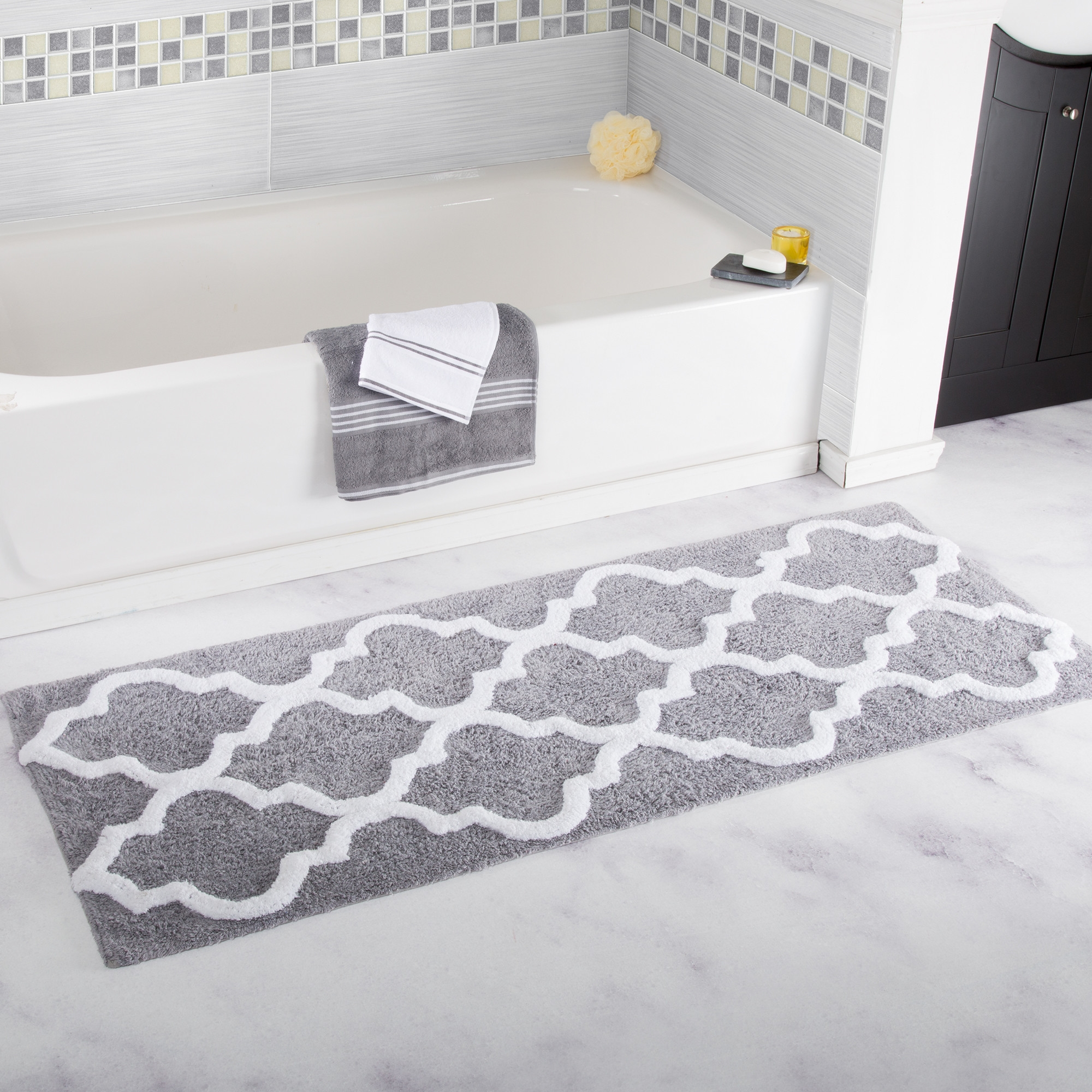 Oversized Cotton Bath Mats