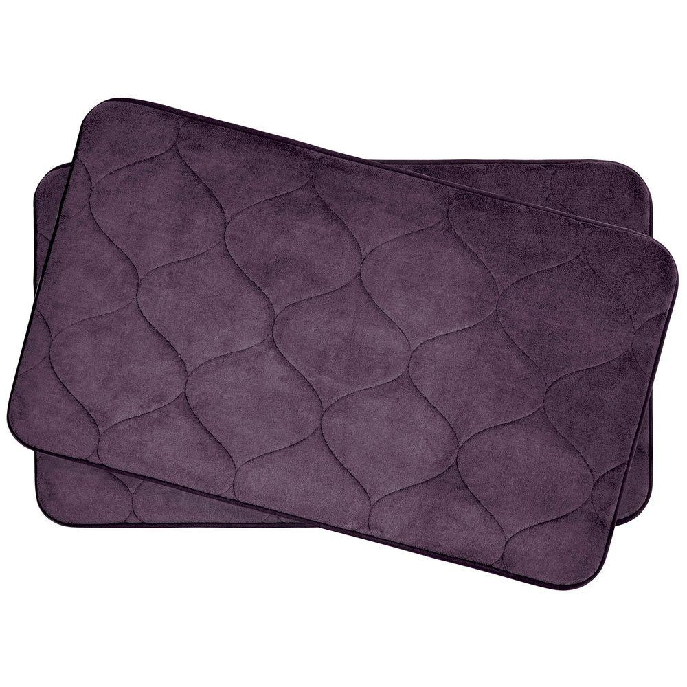 Plum Bath Mat Sets
