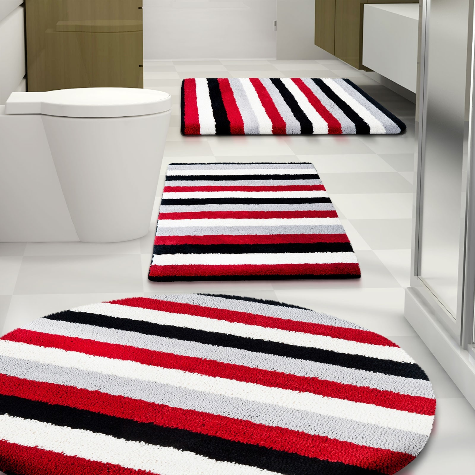Red Bath Mats And Rugs