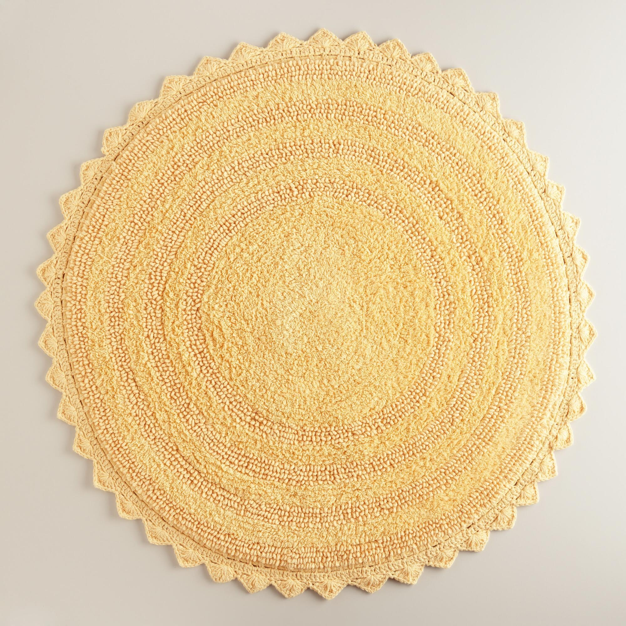 Round Bath Mat Orange