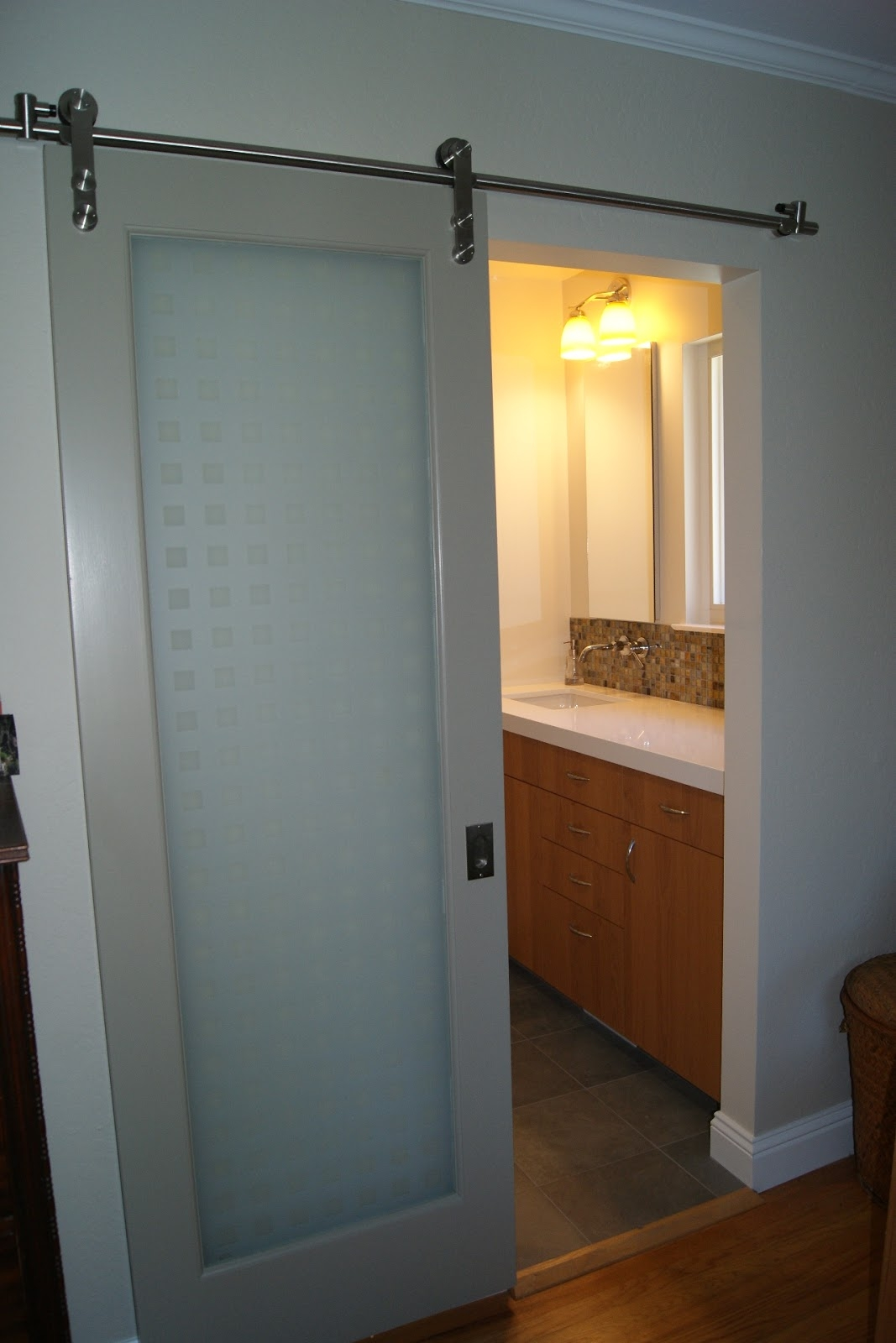 Sliding Barn Door For A Bathroom