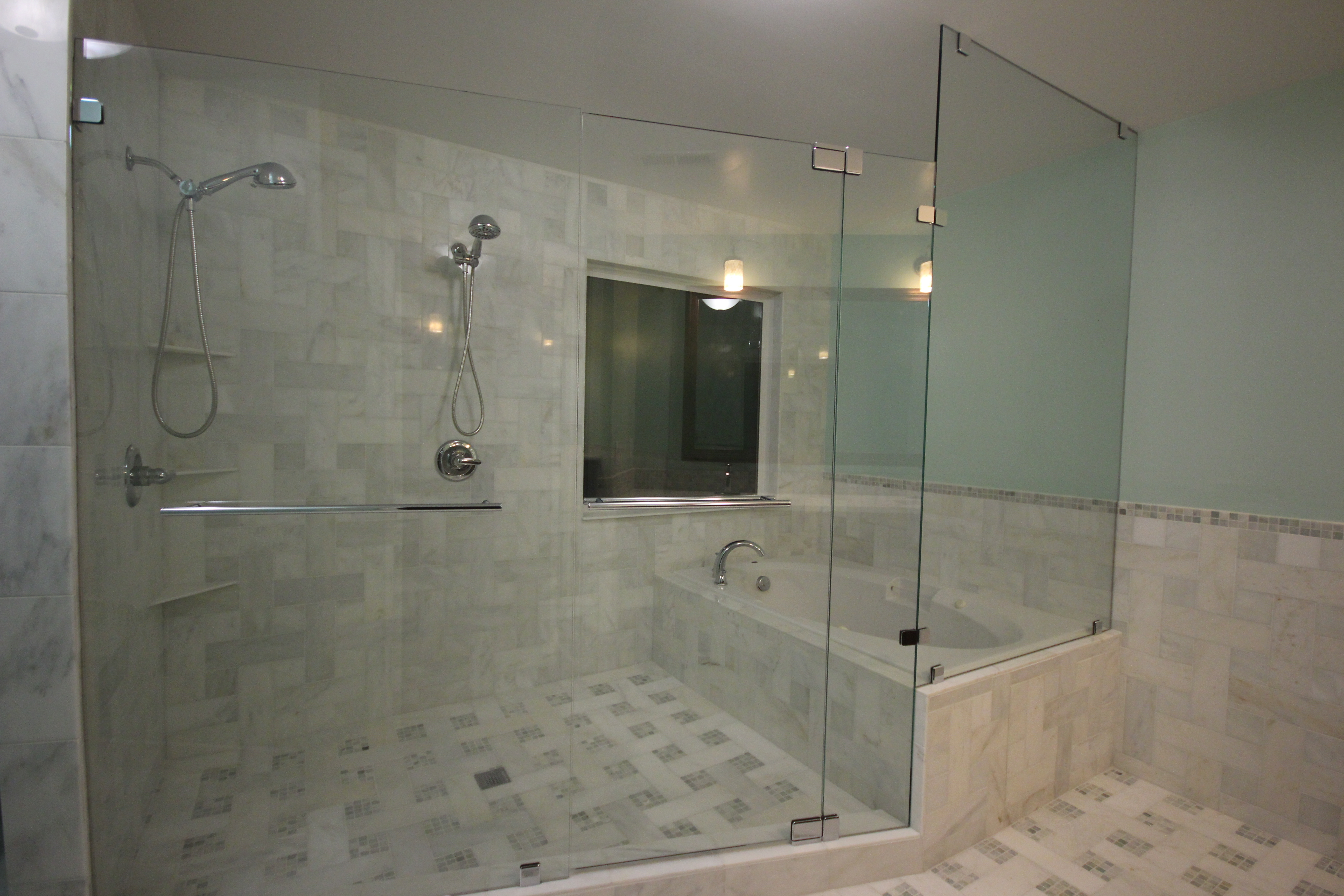 Wet Room Bathroom Doorcustom shower door with tub enclosed in wet room featured on