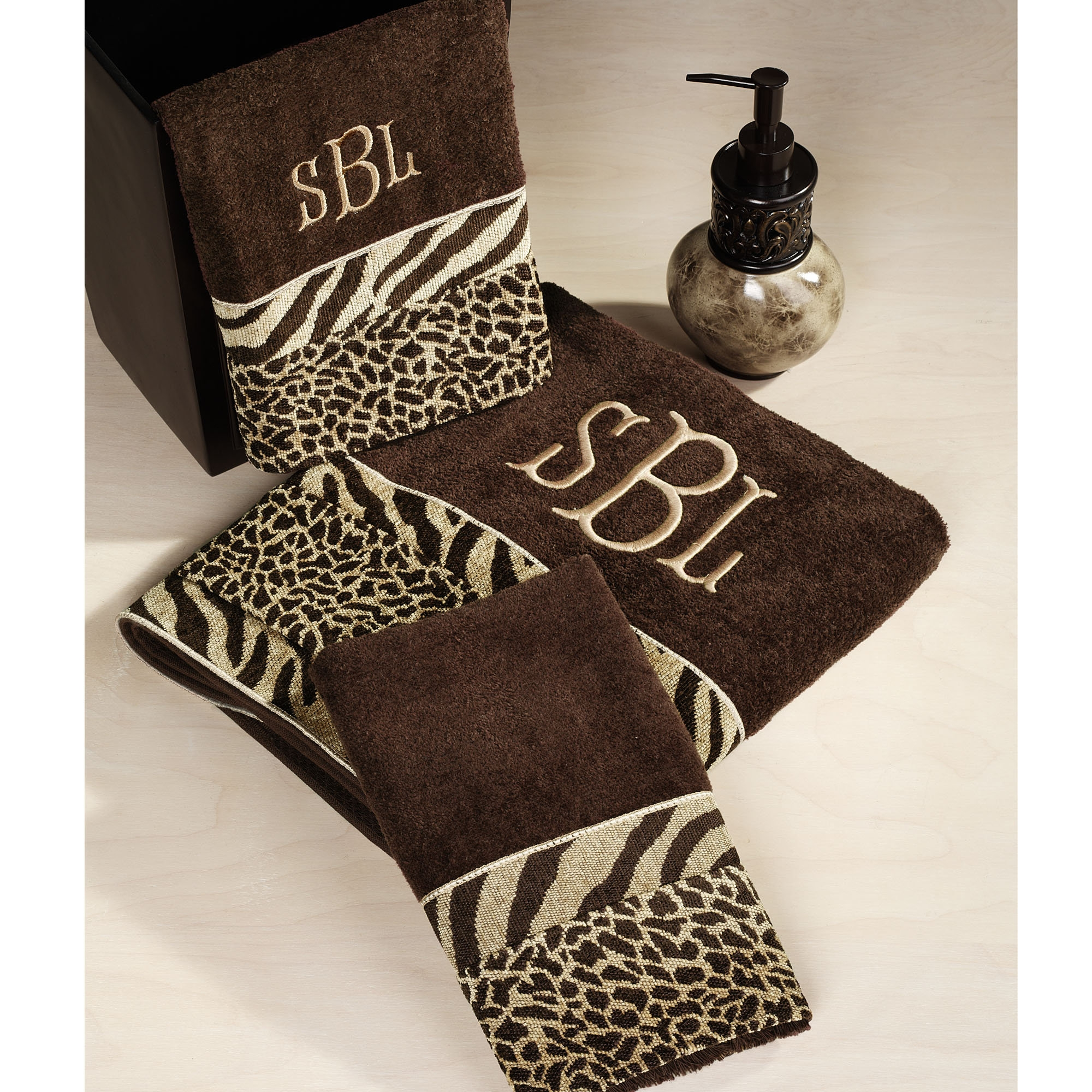 Zebra Print Bathroom Mats
