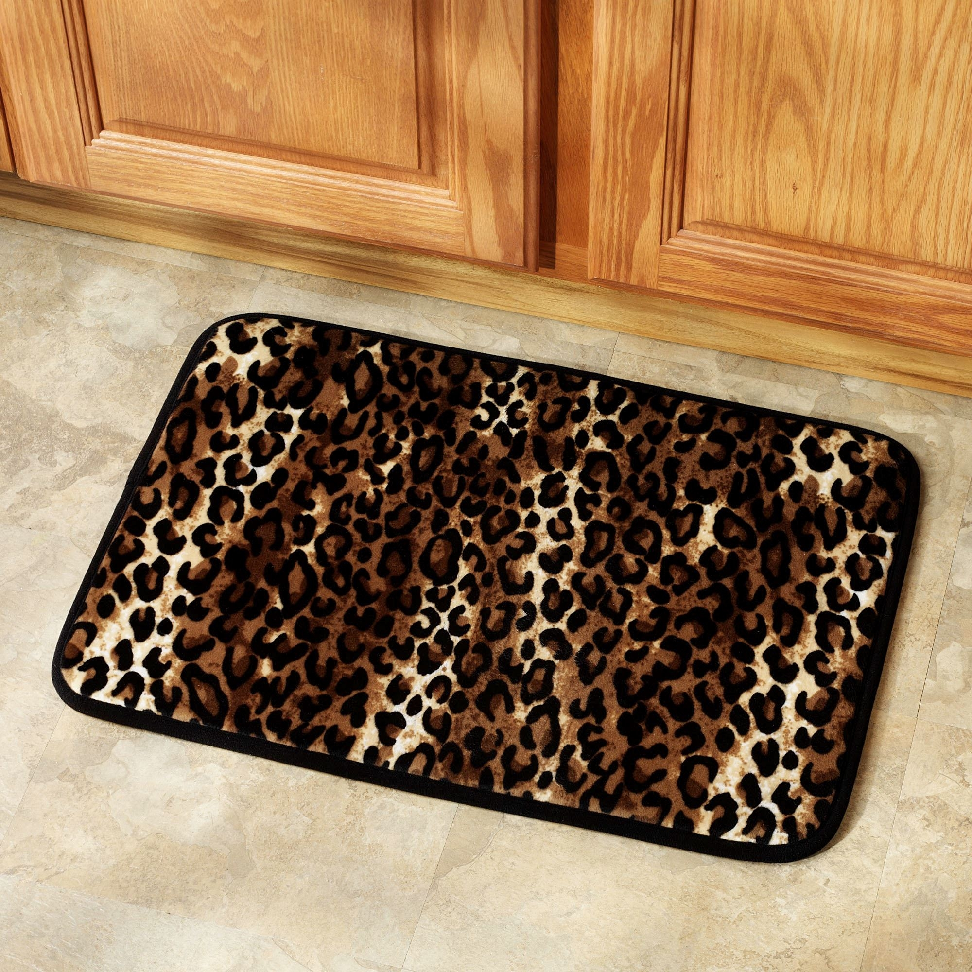 Animal Print Bathroom Mats