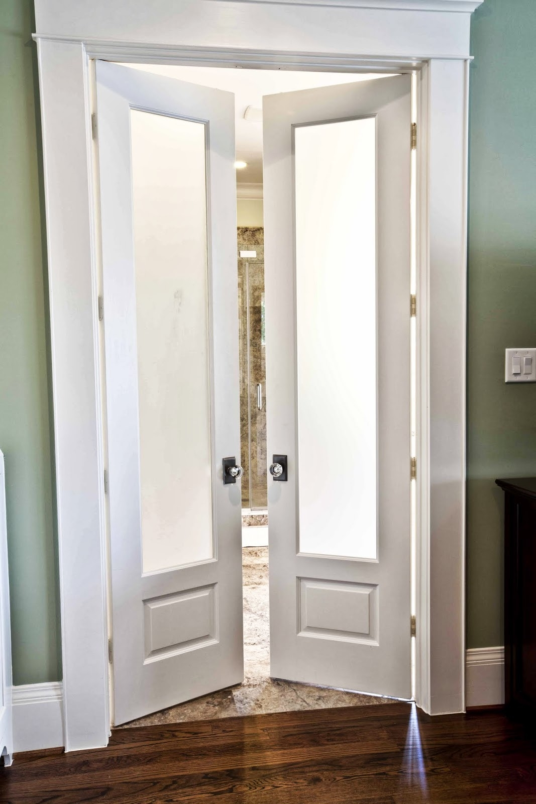 Bathroom Door Open Into Room