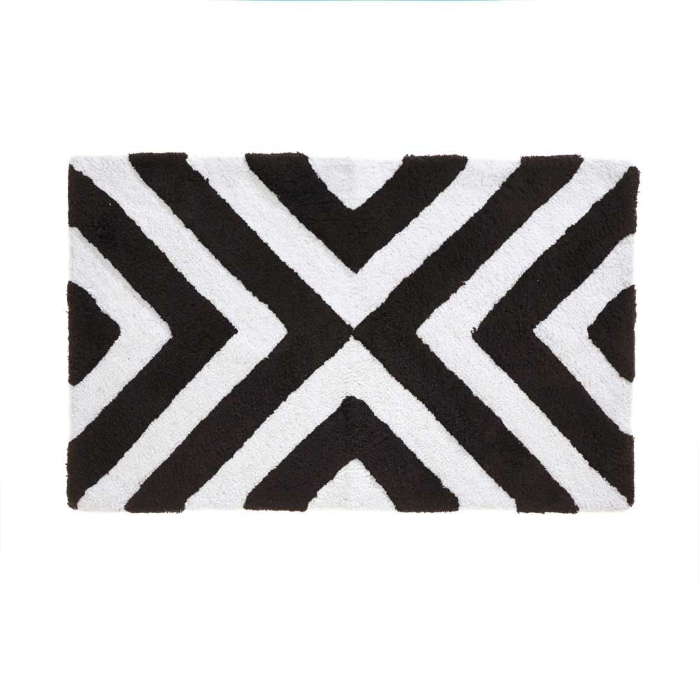 Black White And Grey Bath Mat