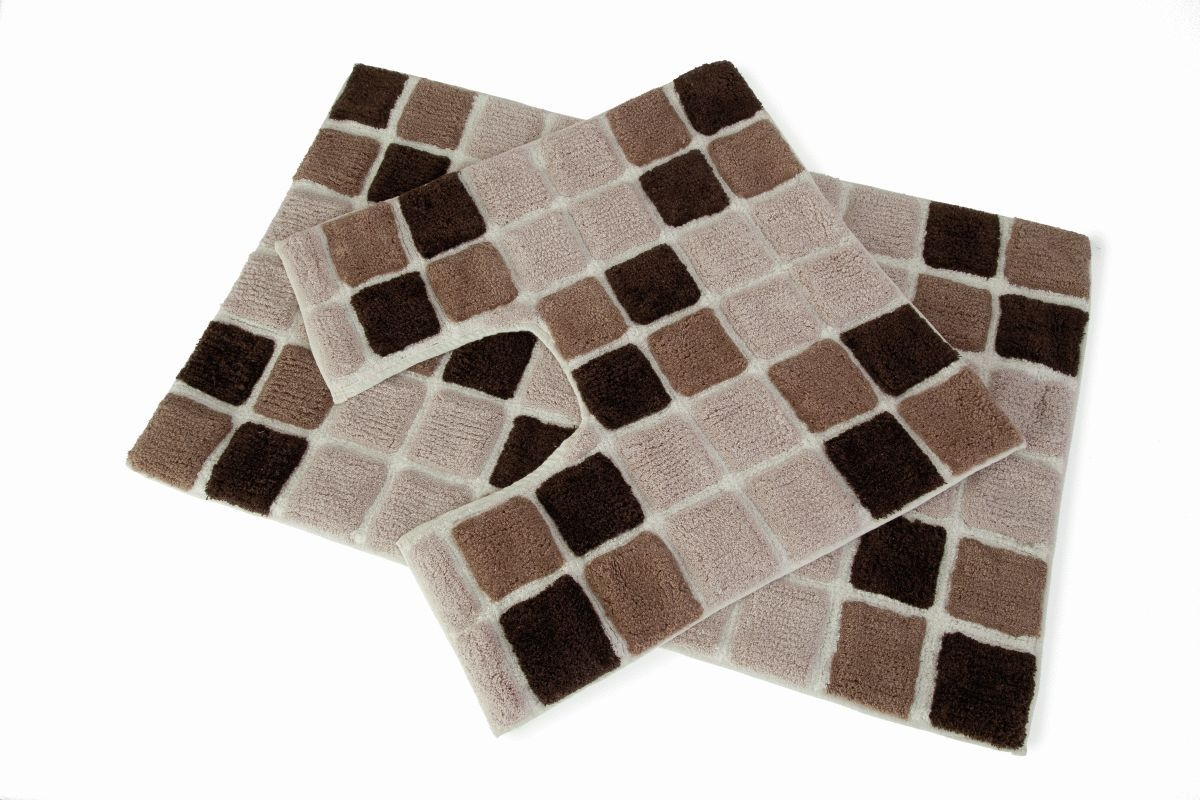 Brown Bath And Pedestal Mats1200 X 800
