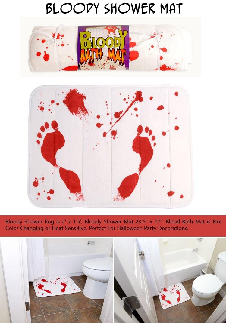 Color Changing Bath Mat Blood