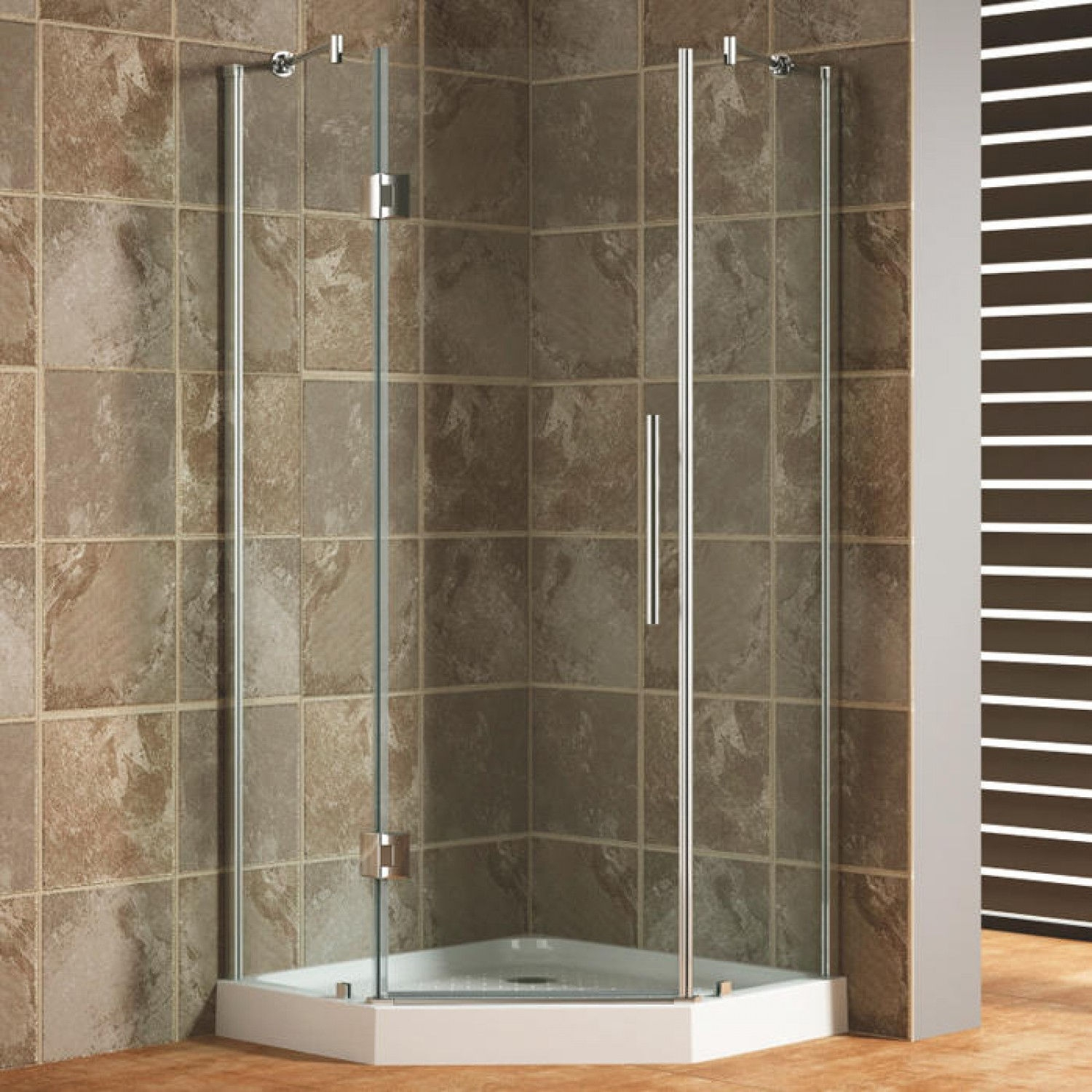 Corner Shower Doors36 x 36 frameless neo angle corner shower enclosure bathroom