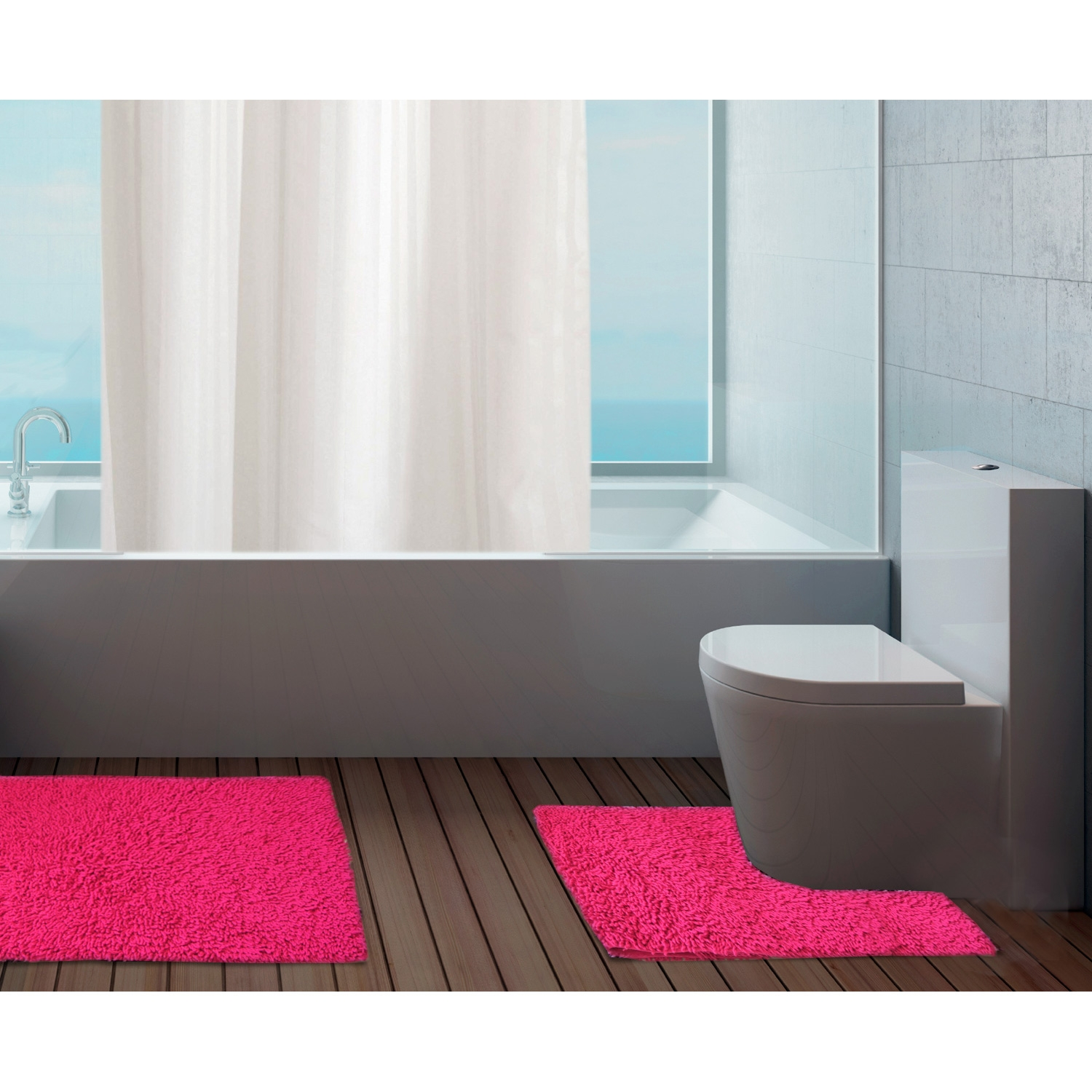 Cotton Bath And Pedestal Mats