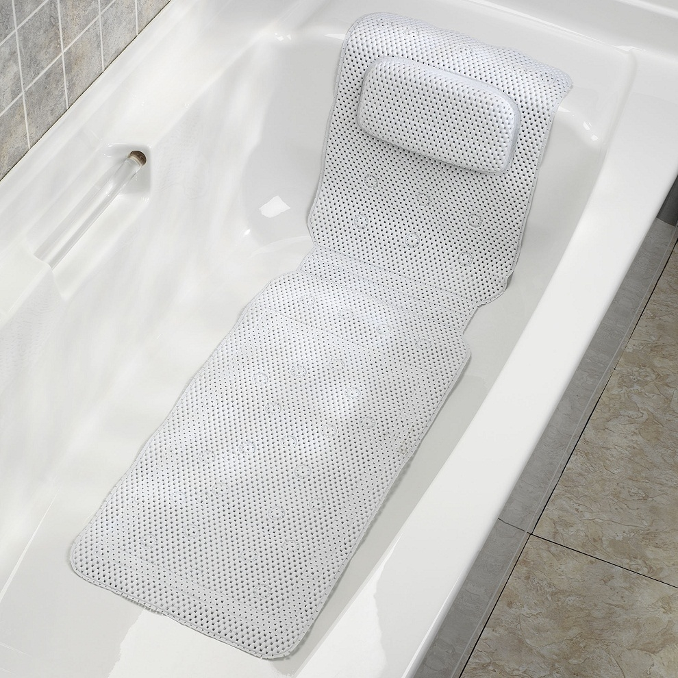 Full Body Bath Mat With Pillow