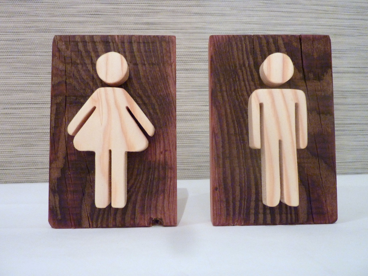 Modern Bathroom Door Signs