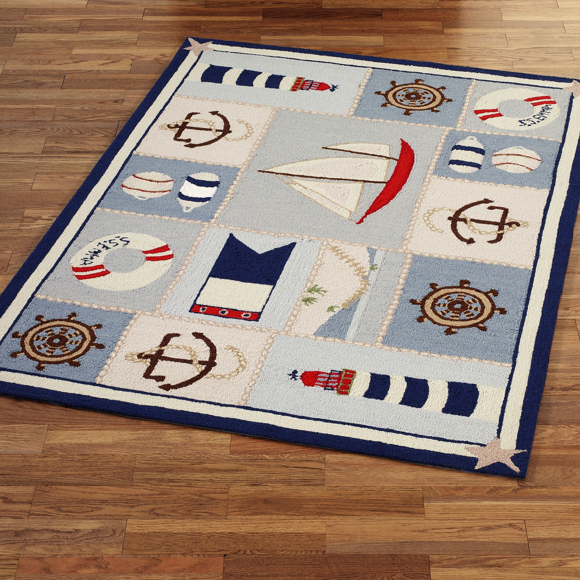 Nautical Bath Mat Rugs
