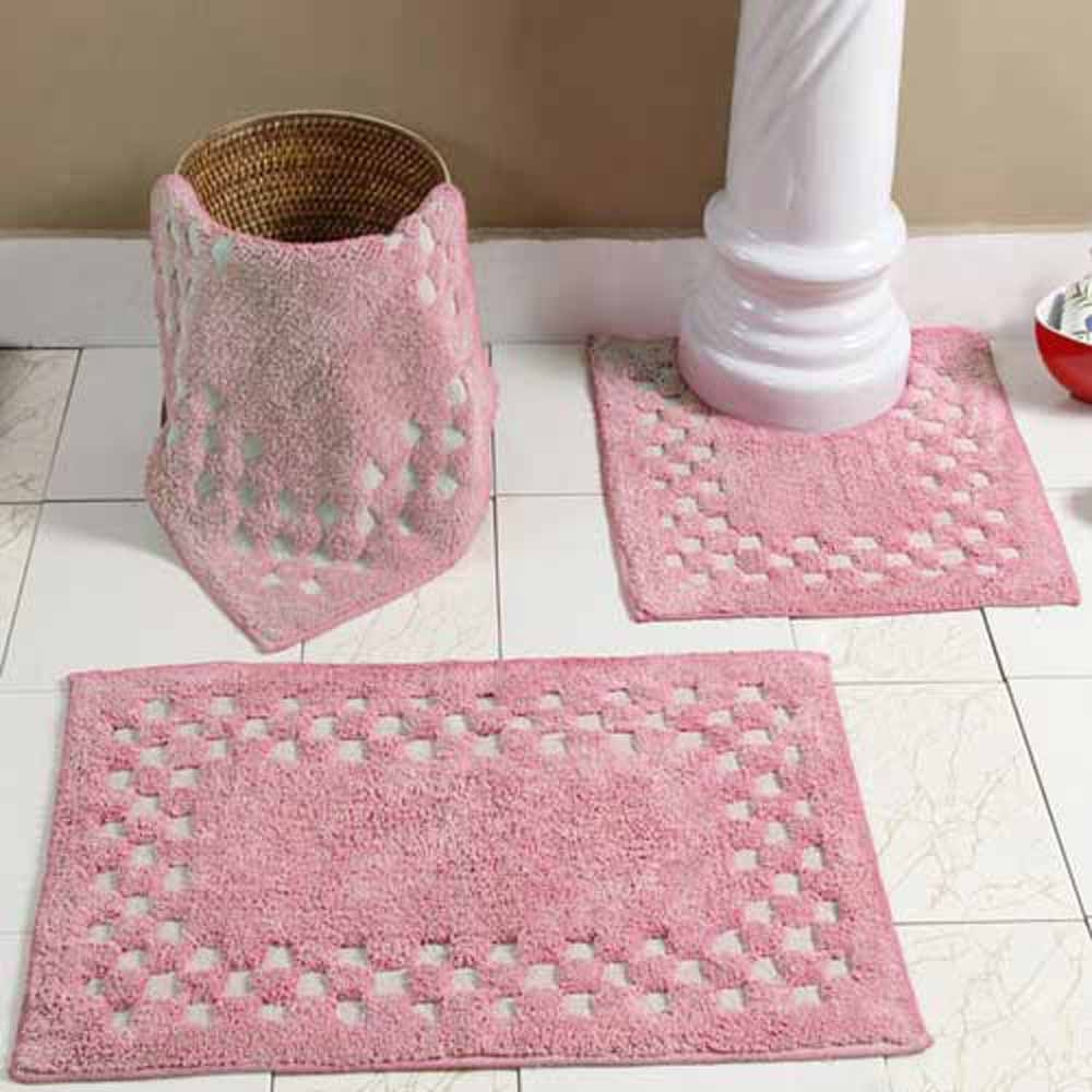 Pink Bath Mat Set1000 X 1000