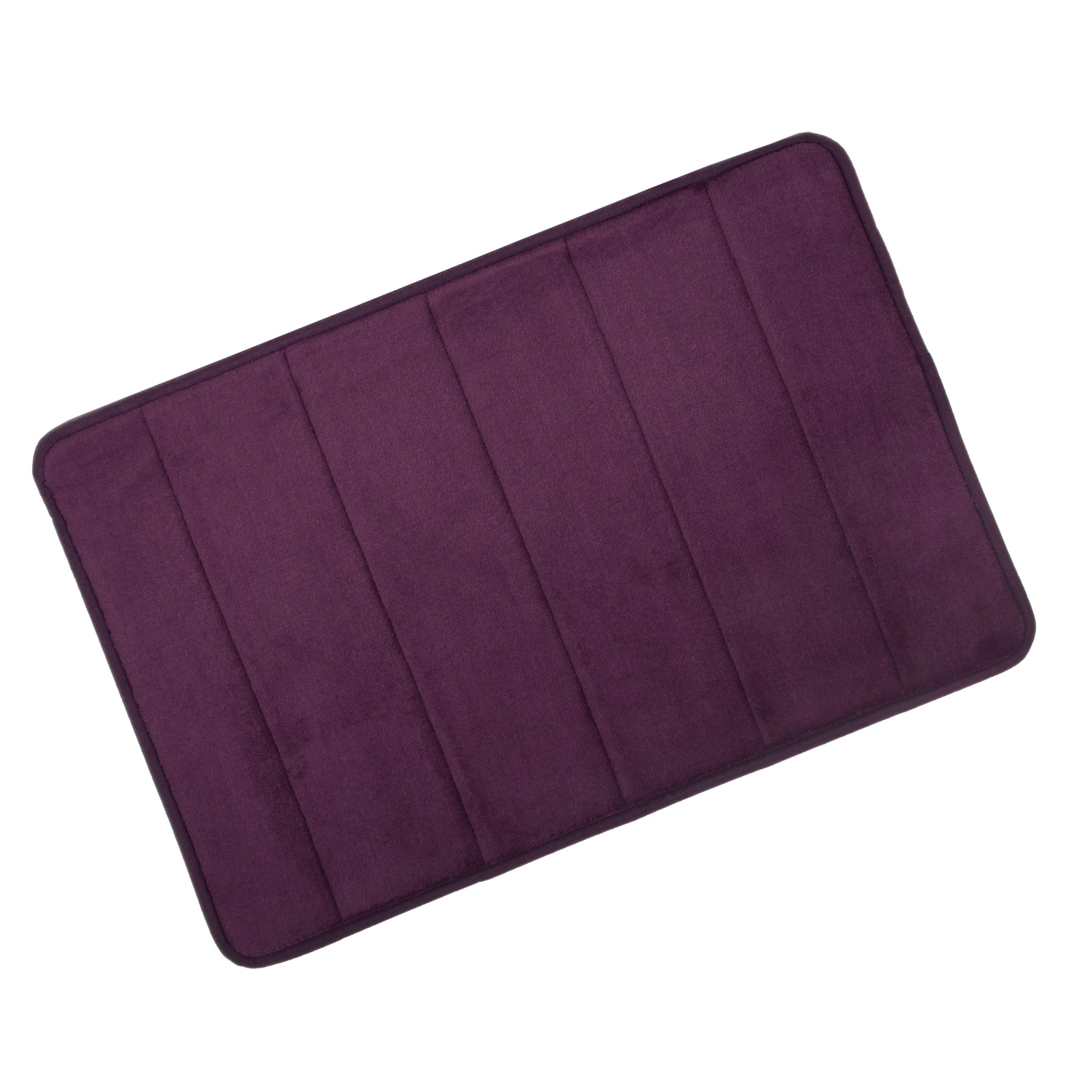 Plum Bath Mat And Pedestal