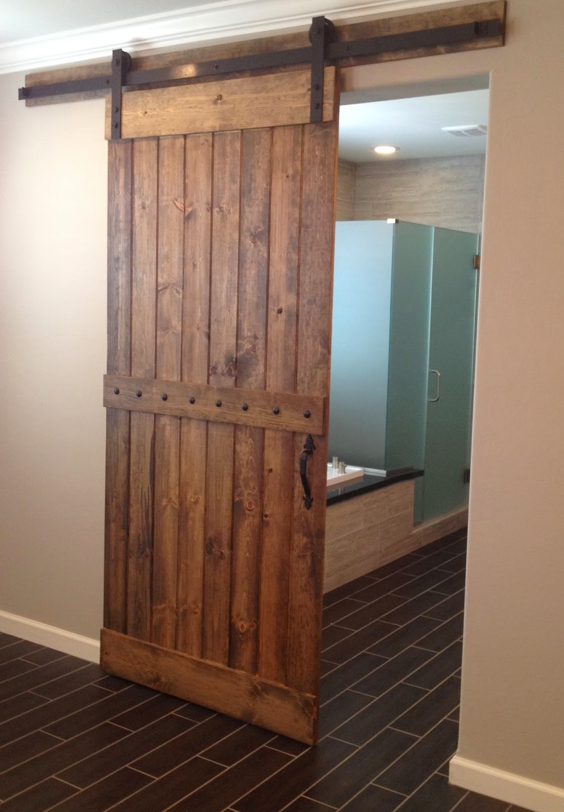 Sliding Barn Style Door Bathroom Picknotty alder barn door styles new house walls trim ceilings