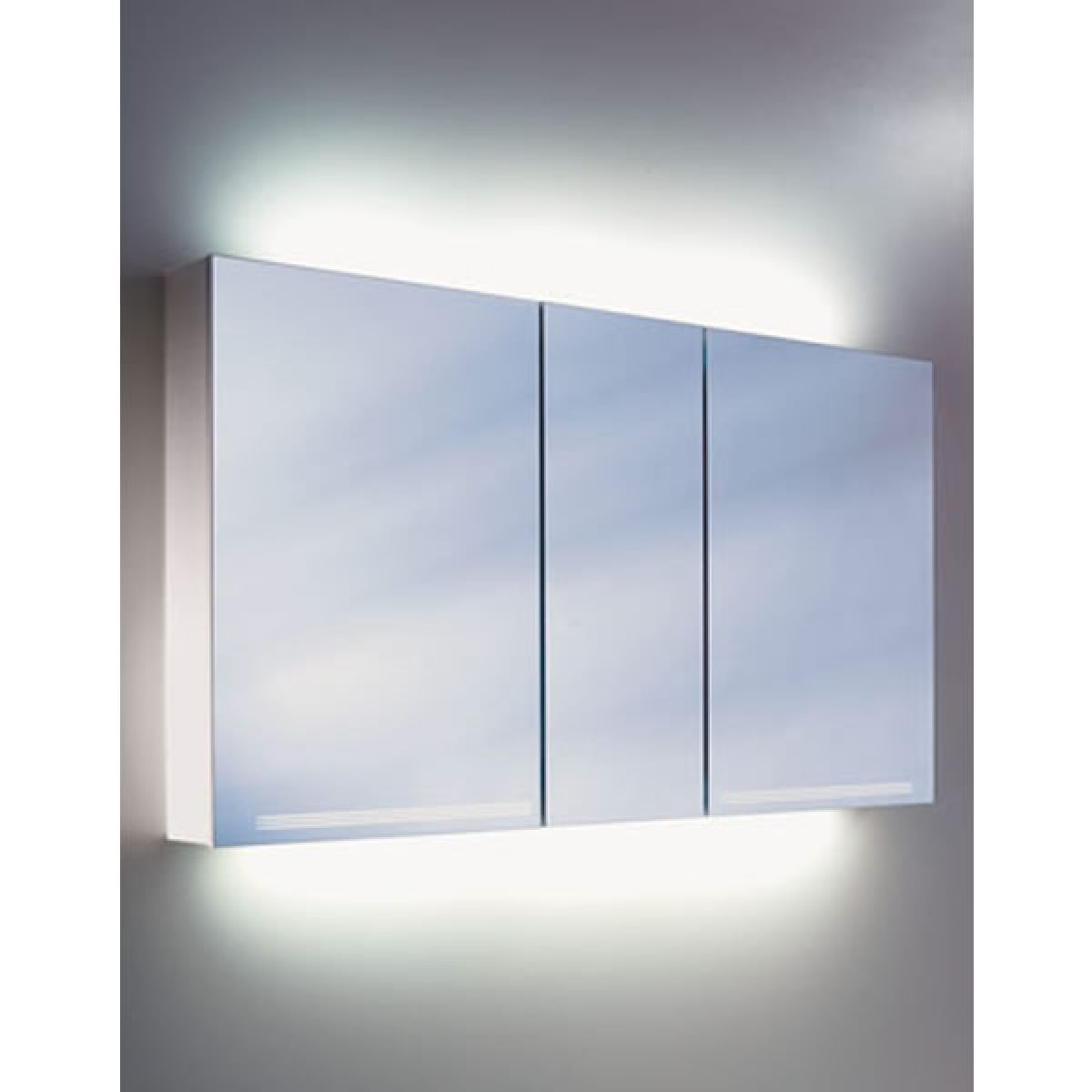 Permalink to 3 Door Illuminated Bathroom Cabinet