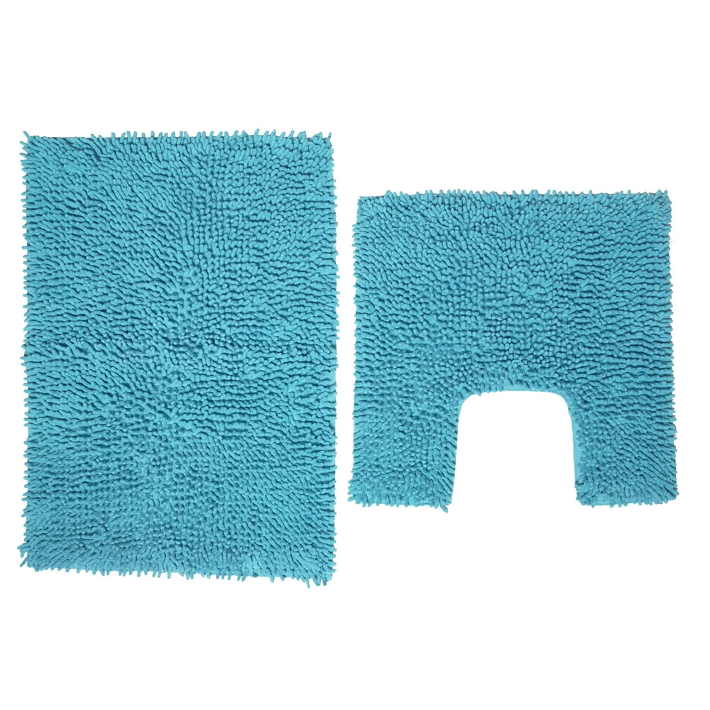 Permalink to Aqua Blue Bath Mats