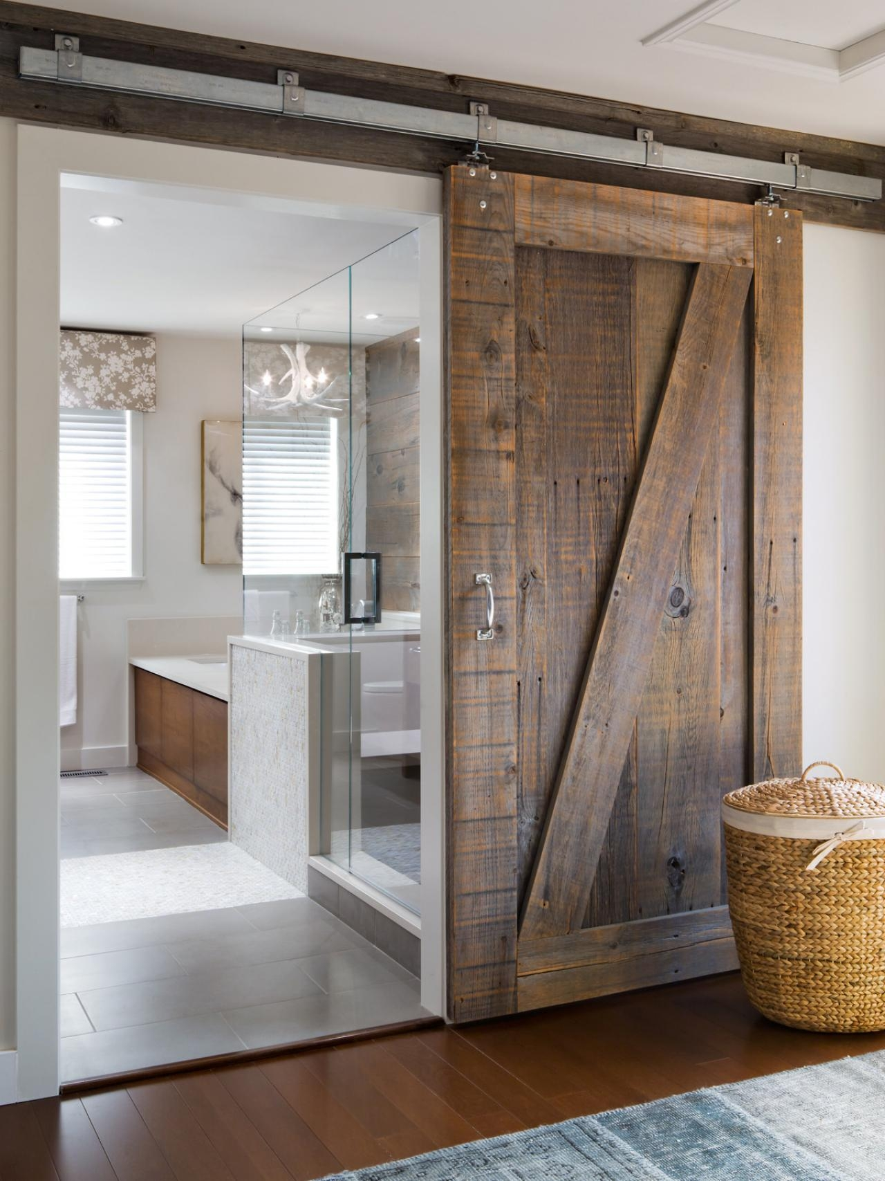 Permalink to Barn Door Master Bathroom