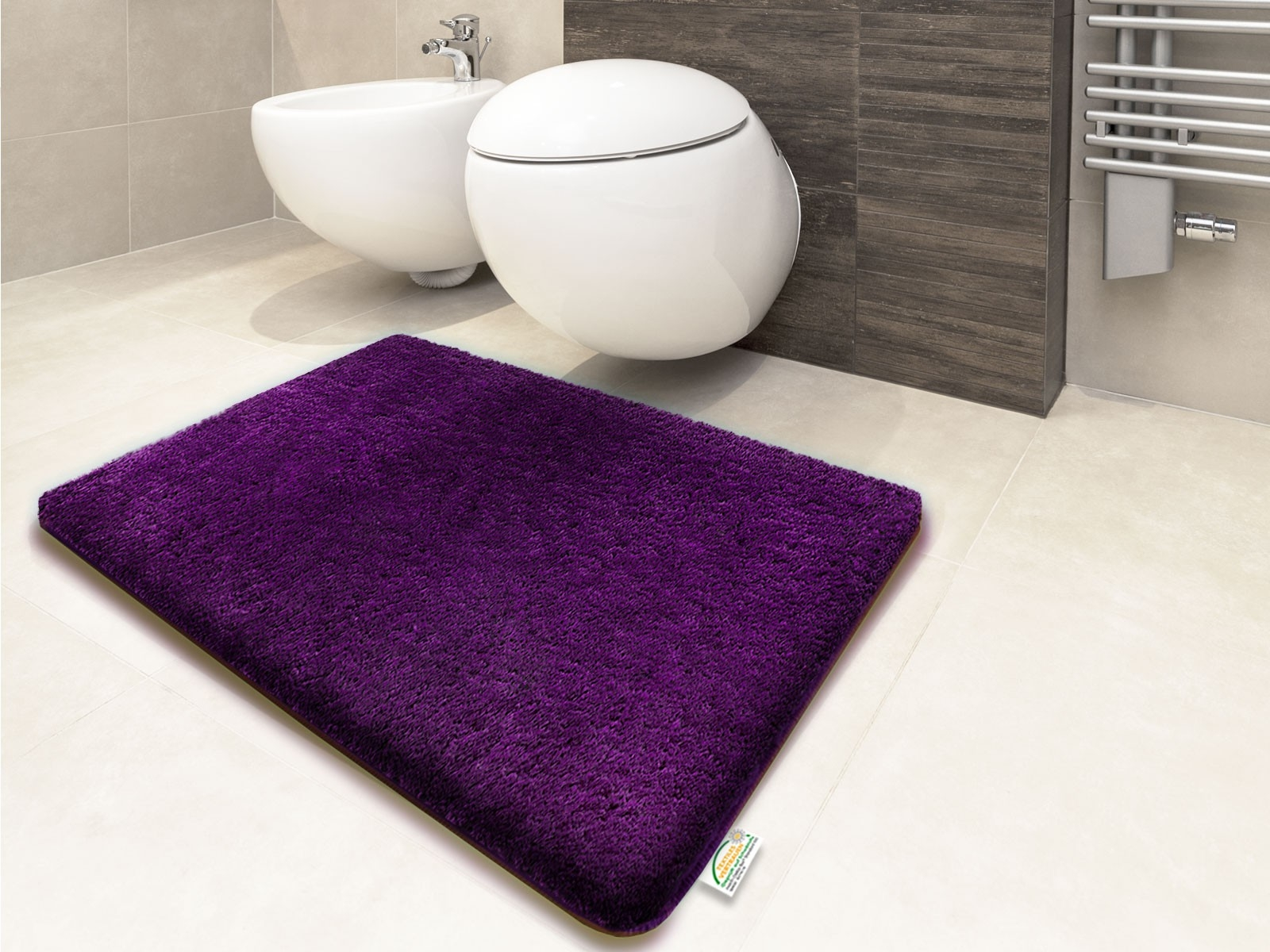 Bath Mats Rubber Backing