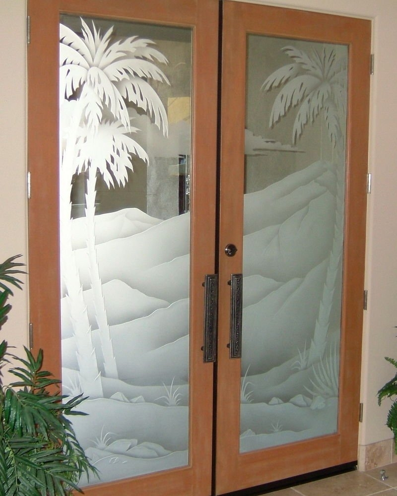Bathroom Door Glass Insert
