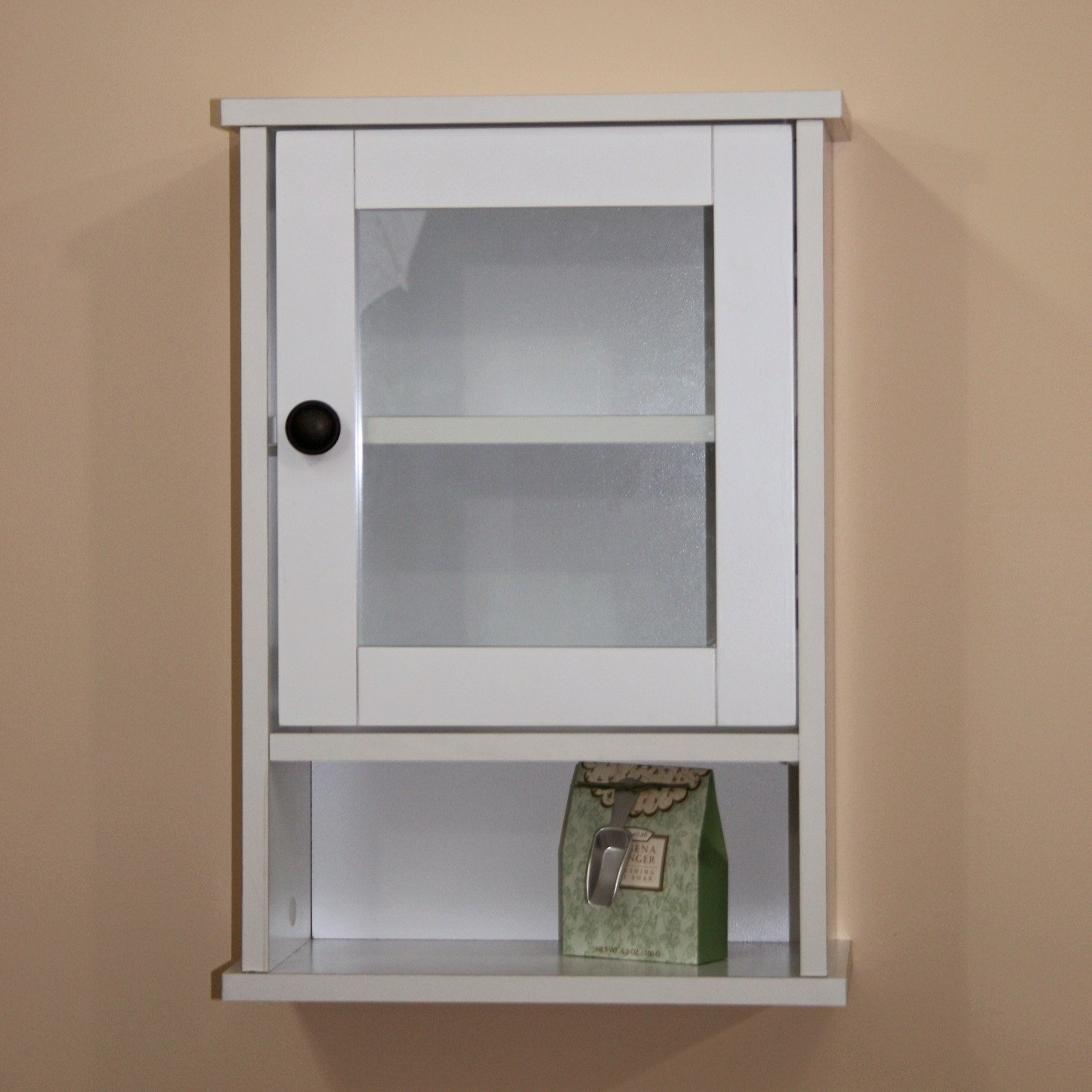 Bathroom Glass Door Cabinet