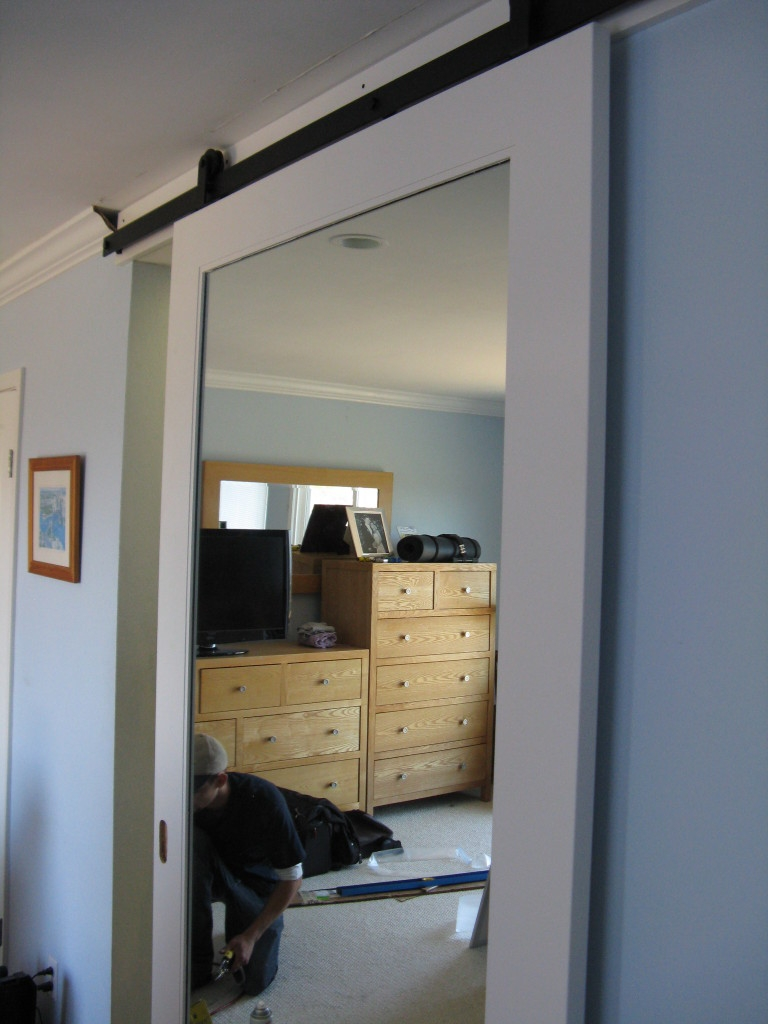 Bathroom Sliding Door With Mirror