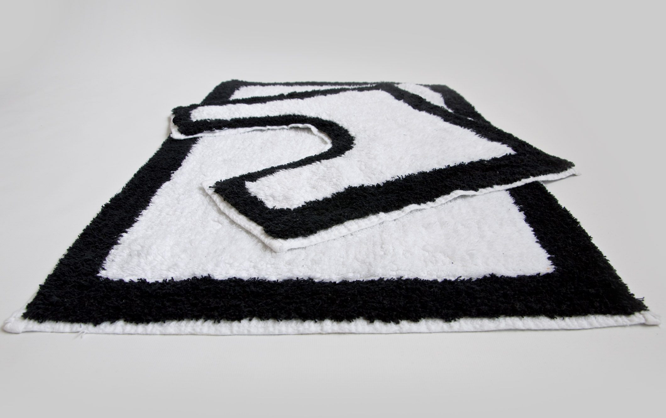 Black And White Bathroom Mat Sets