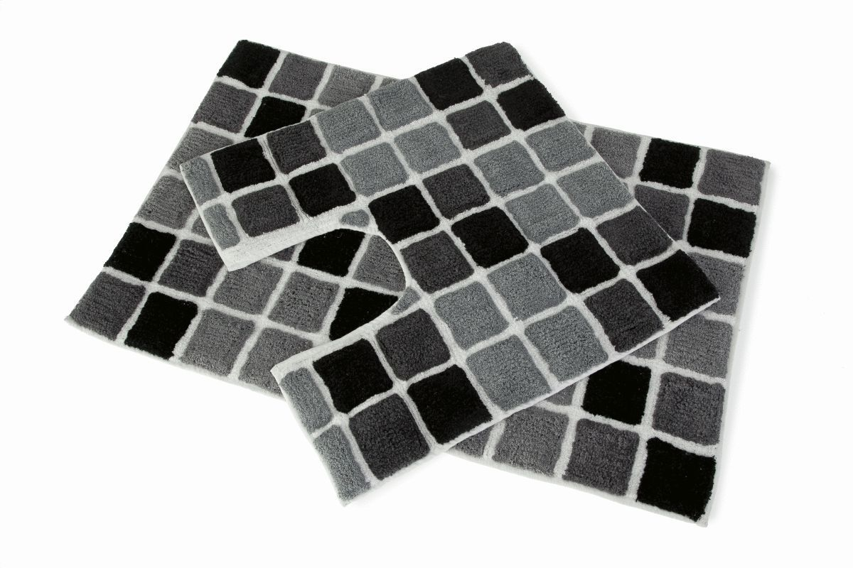 Black Bath Mat And Pedestal Set1200 X 800