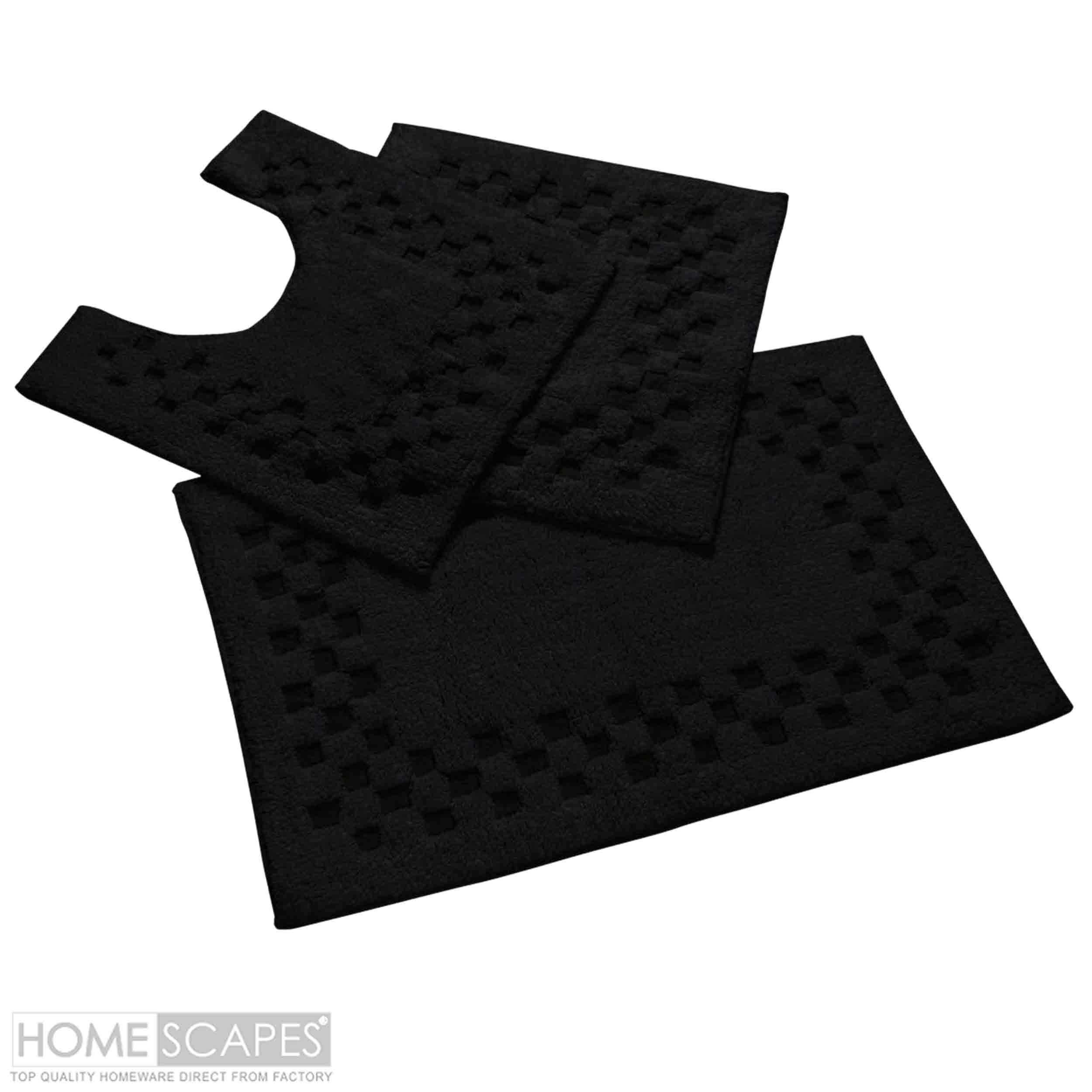 Black Bath Mats Sets