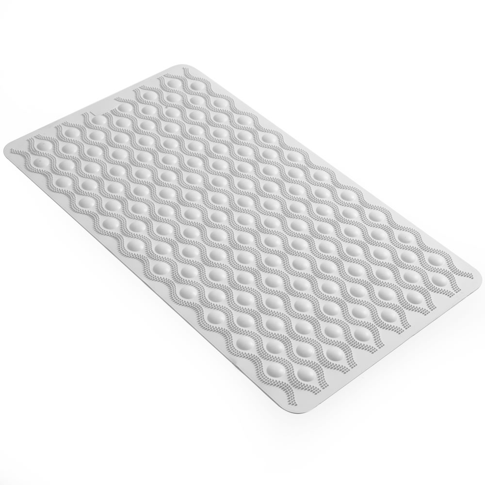 Black Rubber Non Slip Bath Mat