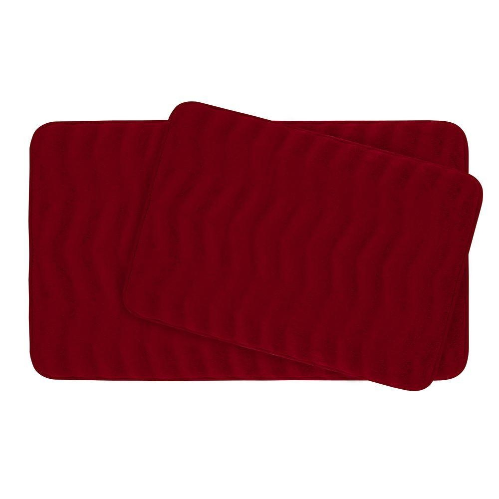 Burgundy Memory Foam Bath Mat