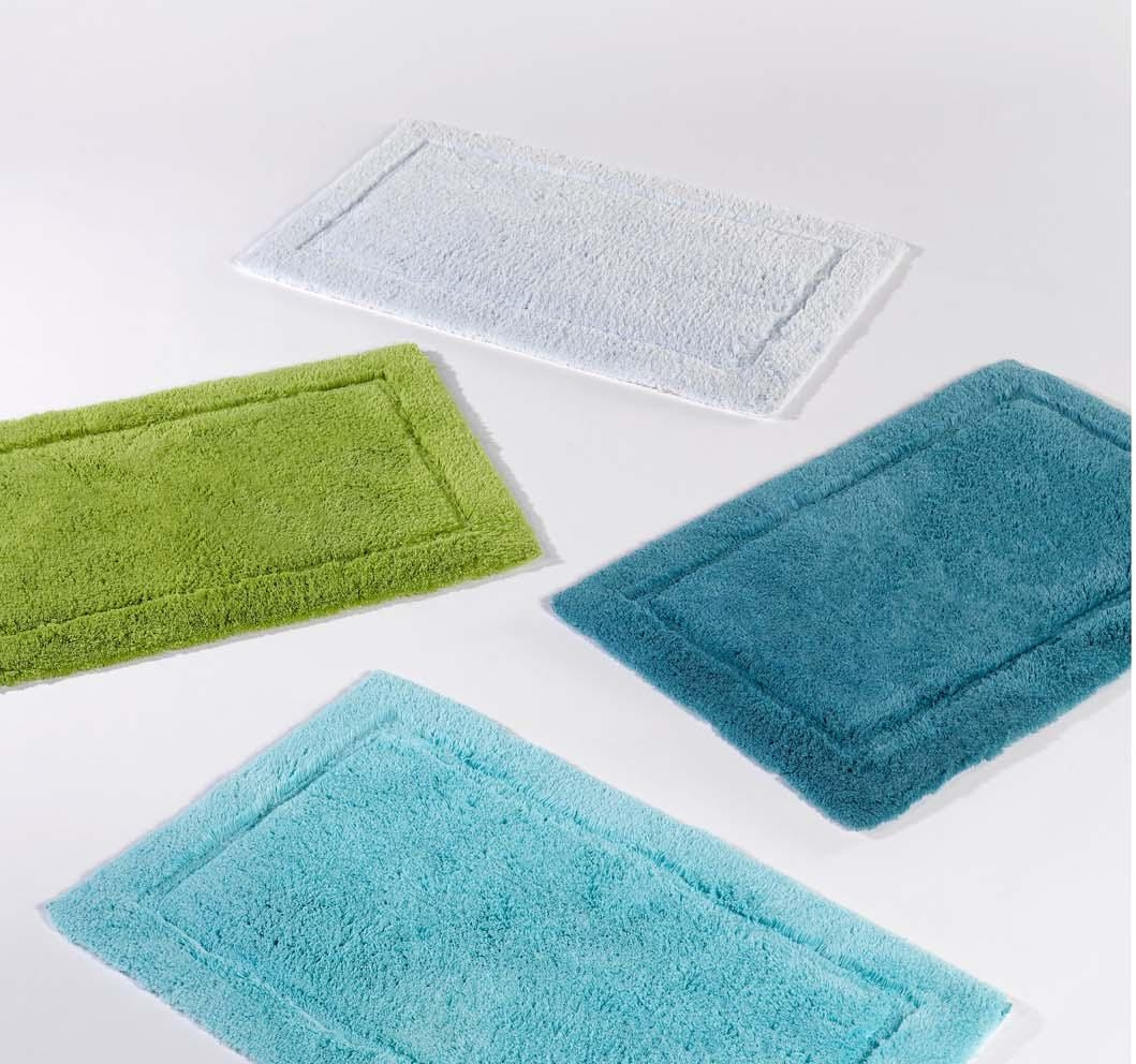 Cotton Bath Mats With Rubber Backing