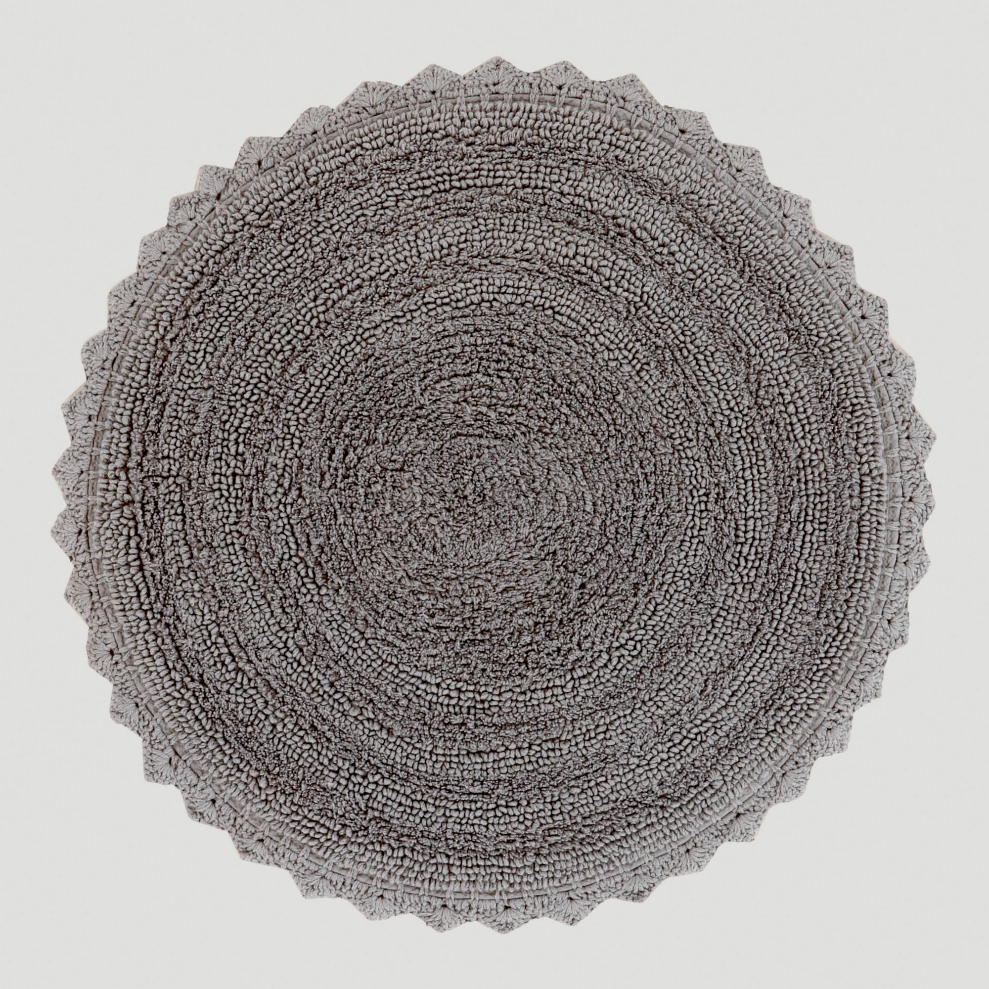 Grey Circle Bath Mat