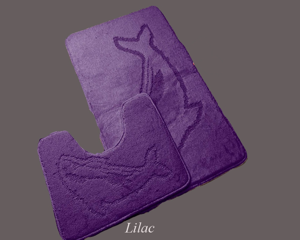 Lilac Bath Mat And Pedestal