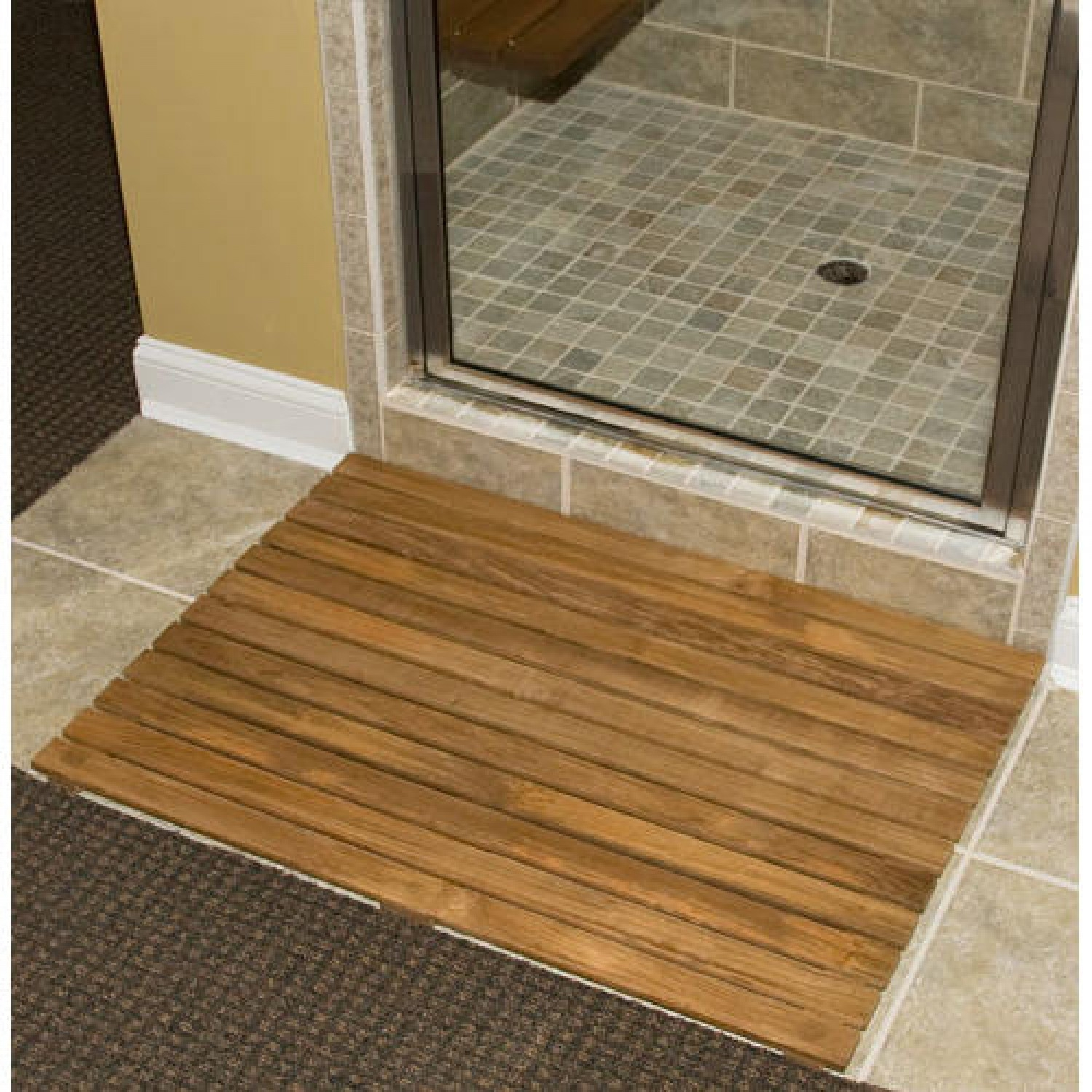 Lowes Wood Bath Mat