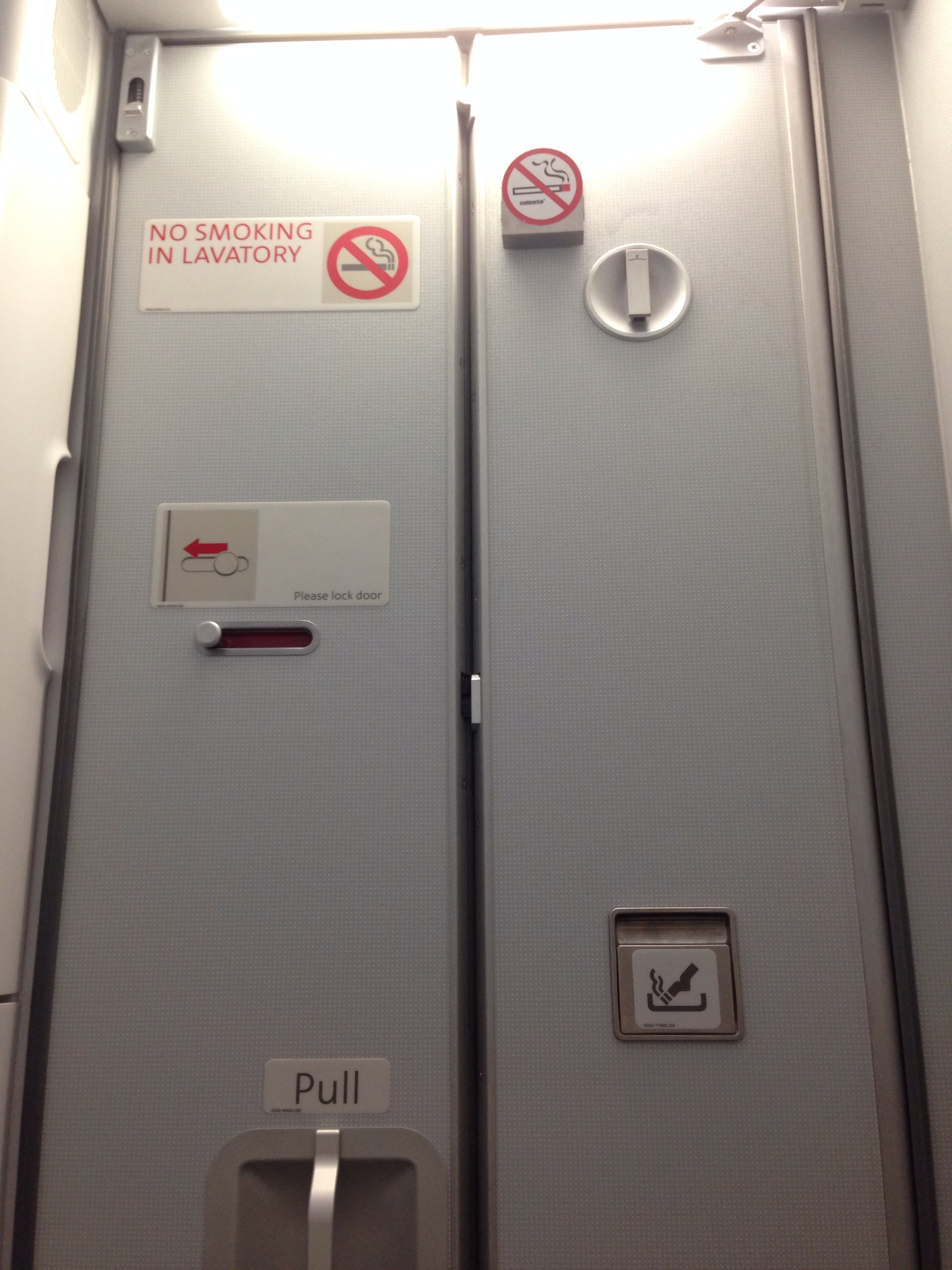 Open Airplane Bathroom Door
