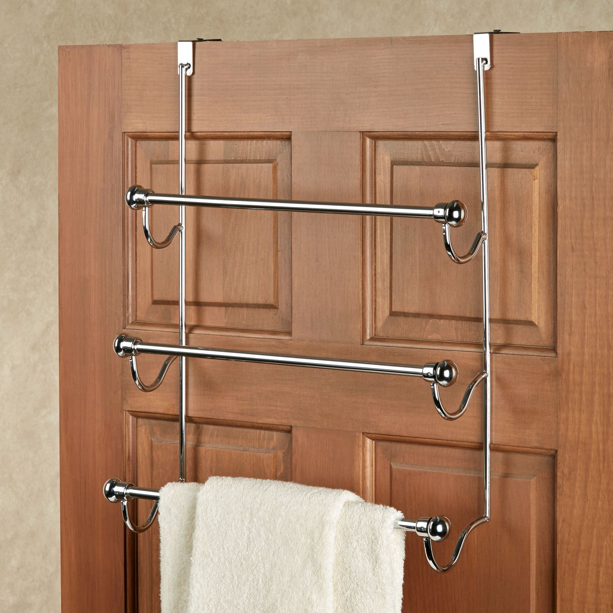 Over The Door Towel Holder For Bathroomchrome over the door three bar towel rack