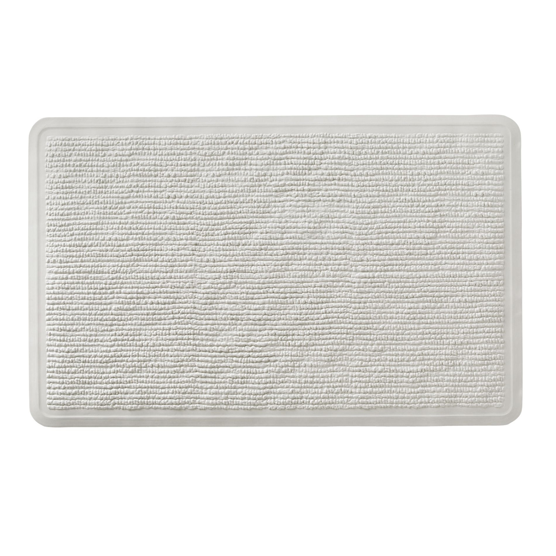 Rubber Backed White Bath Mats
