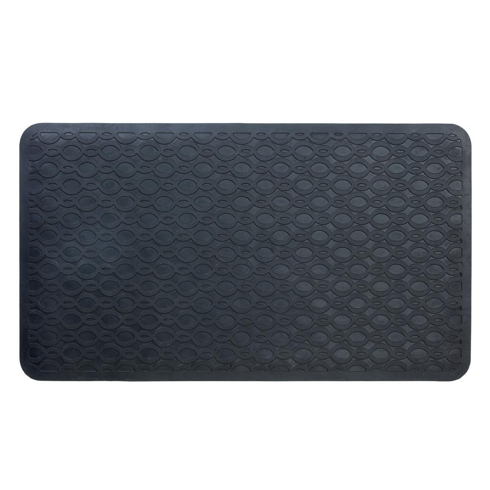 Rubber Bath Mat Black
