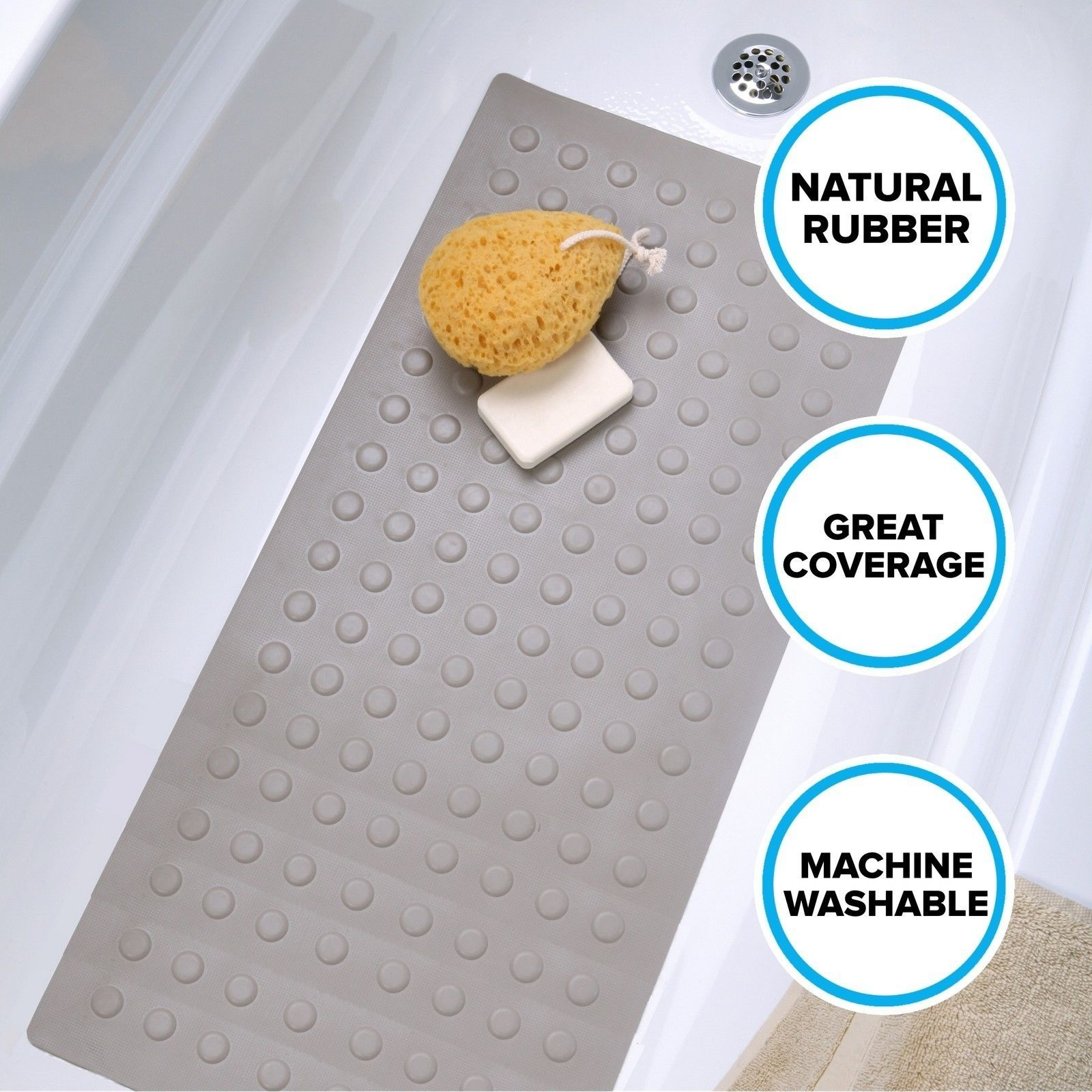 Rubber Bath Mat Machine Washable