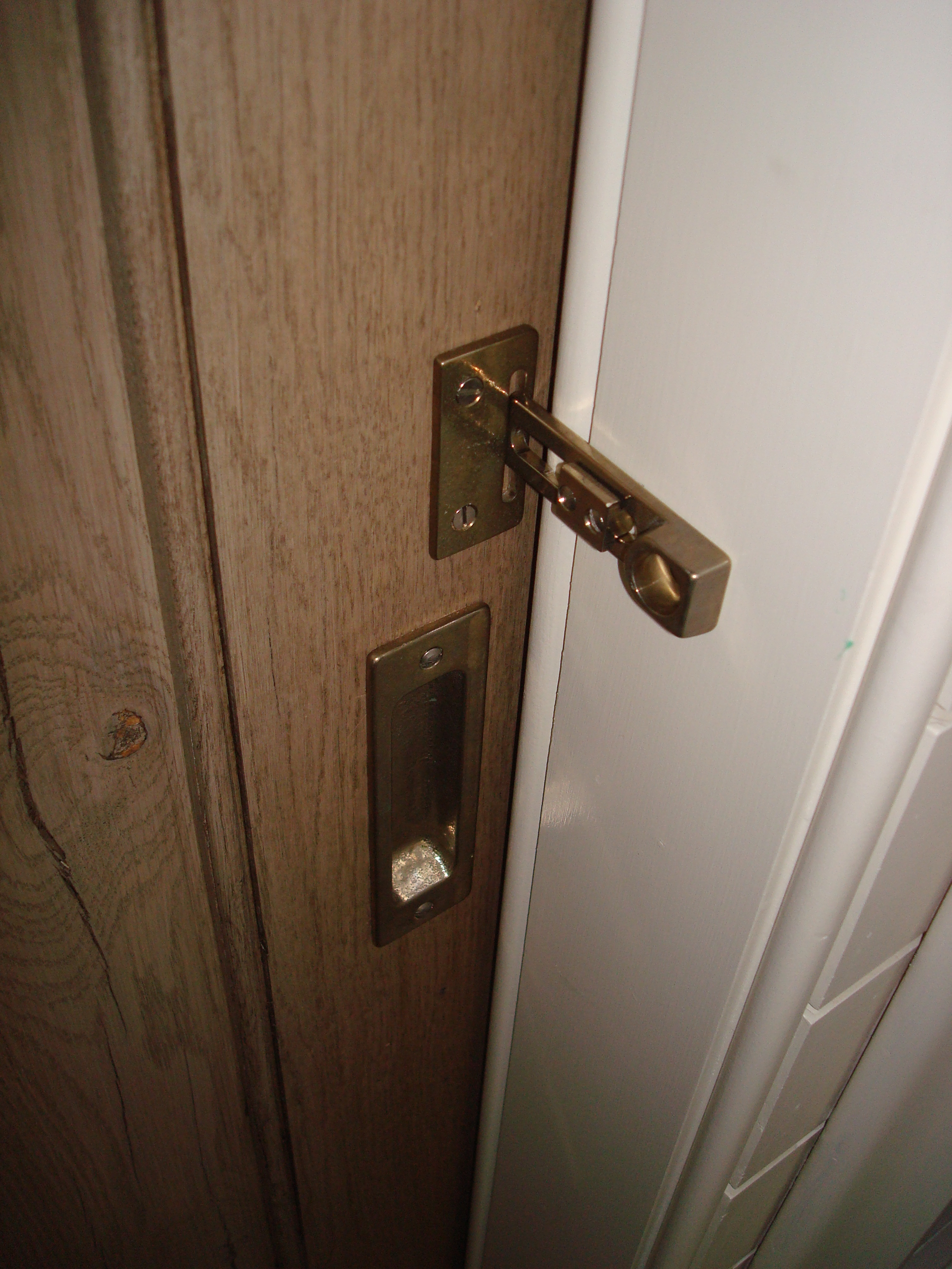 Sliding Barn Door Bathroom Lock