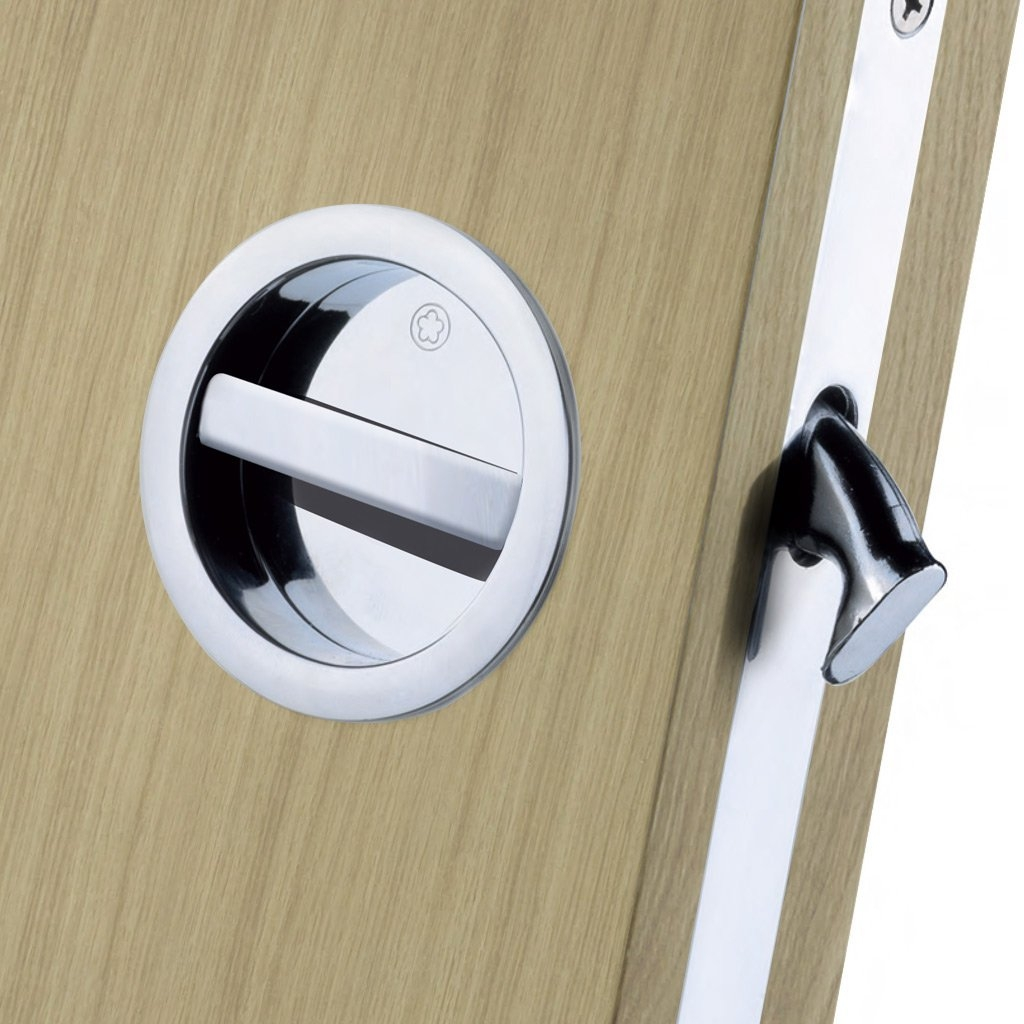 Sliding Pocket Door Bathroom Lock Set