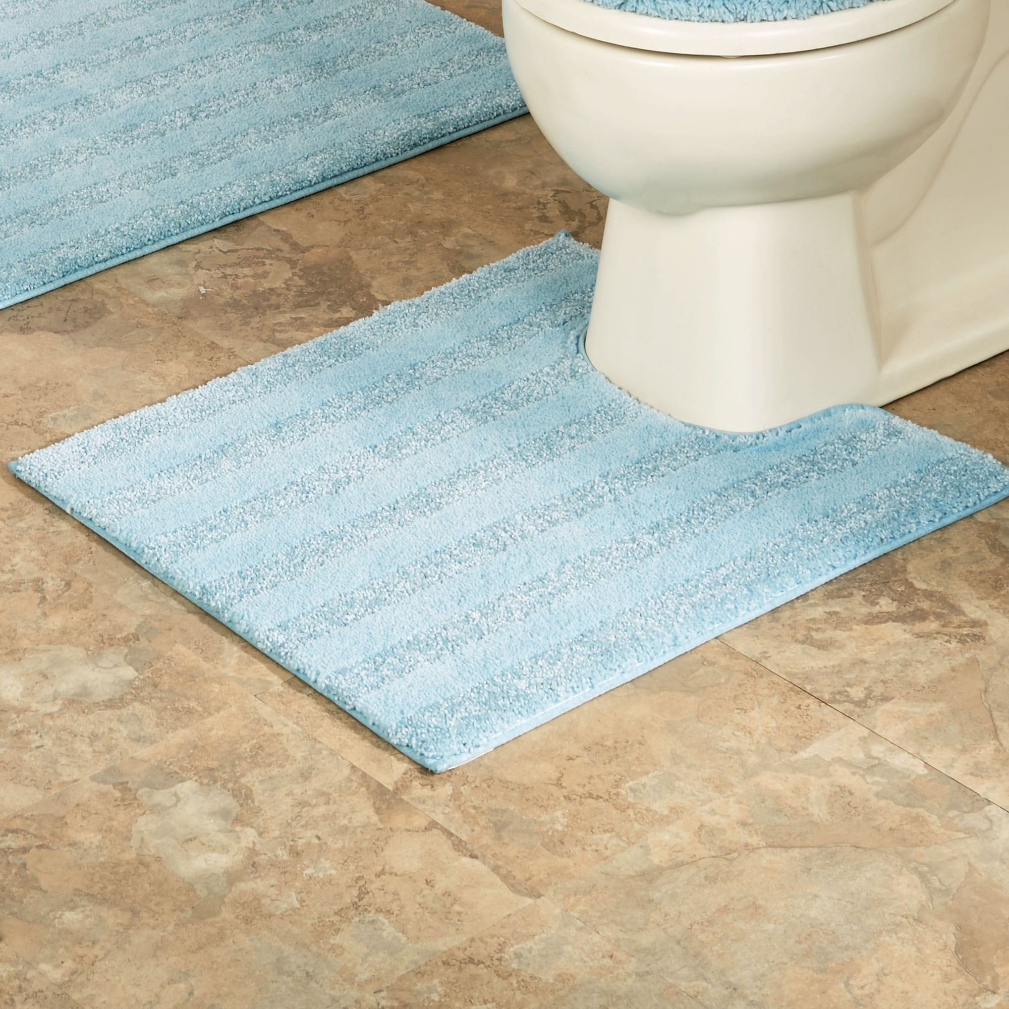 Striped Bath Mats