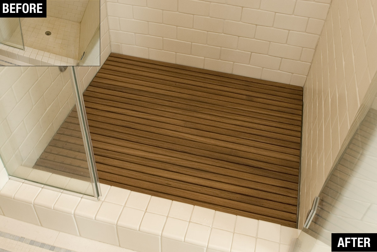 Teak Bath Floor Mat
